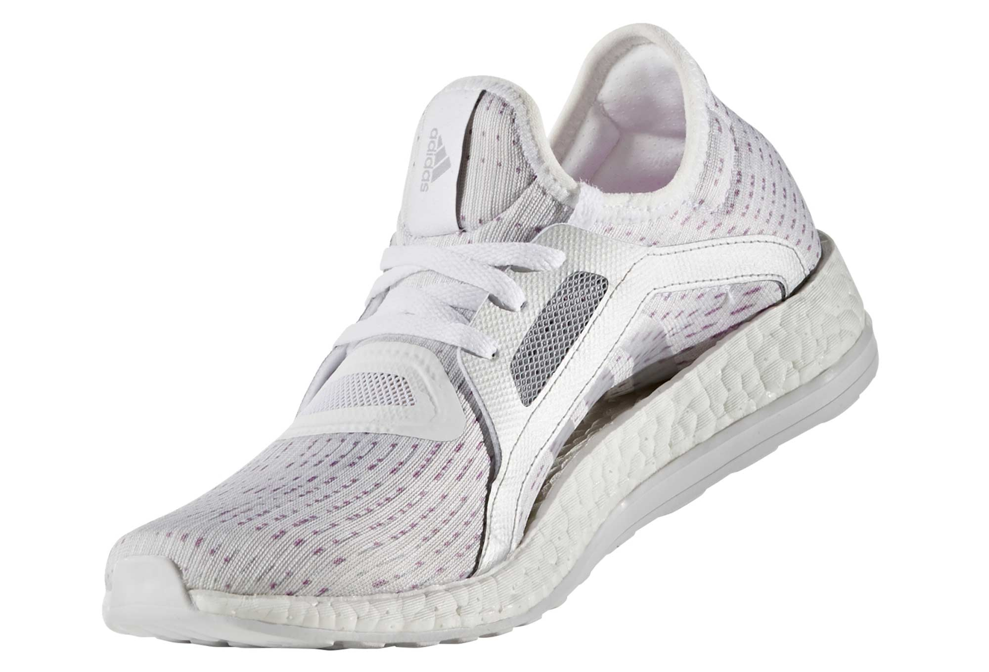 adidas running PURE BOOST X Blanc Violet Femme