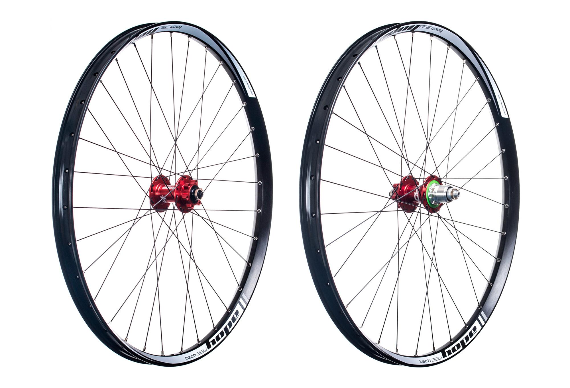 8d9757305ee HOPE Tech 35W Pro 4 27.5'' MTB Wheelset | Sram XD | Red | Alltricks.fr