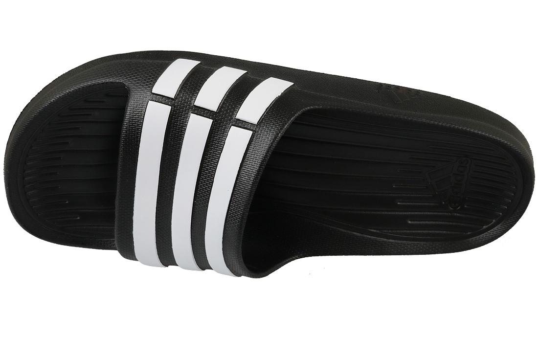 best service 6efae a2c33 Adidas Duramo Slide K G06799 Blanc