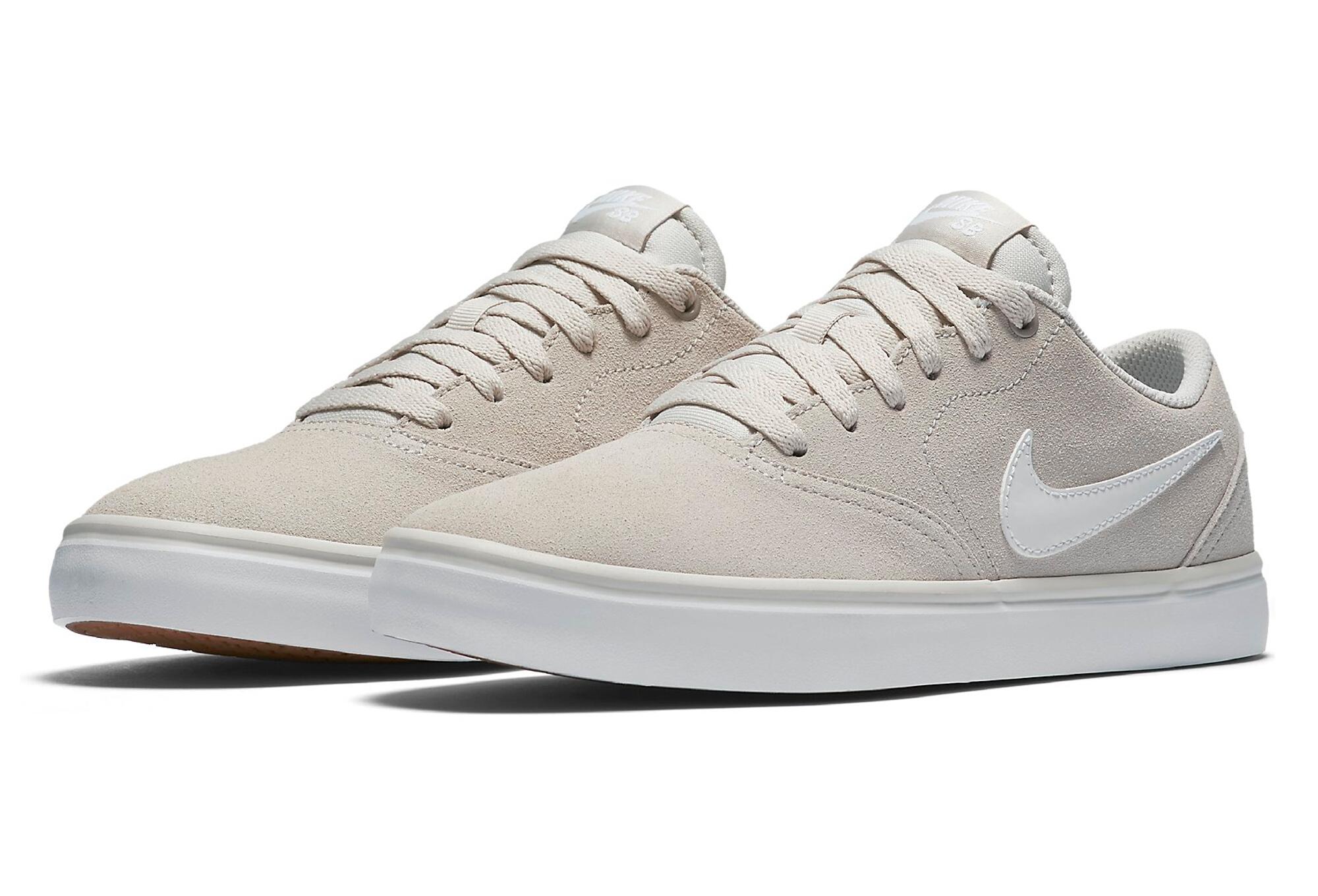 Nike SB Check Solarsoft Schuhe Beige Weiß