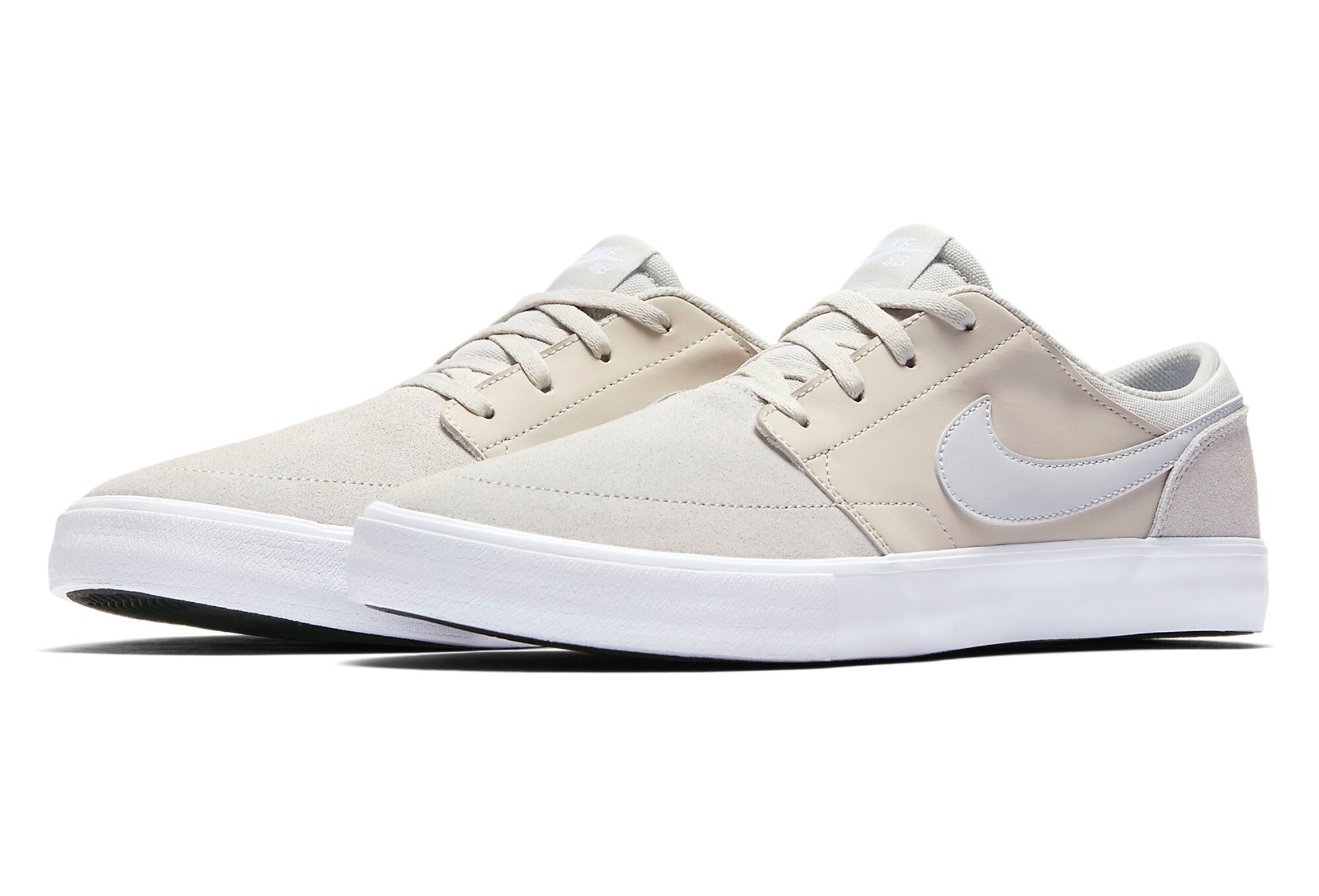 Ii Blanc Beige Chaussures Sb Nike Portmore Solarsoft iOPZTXuk