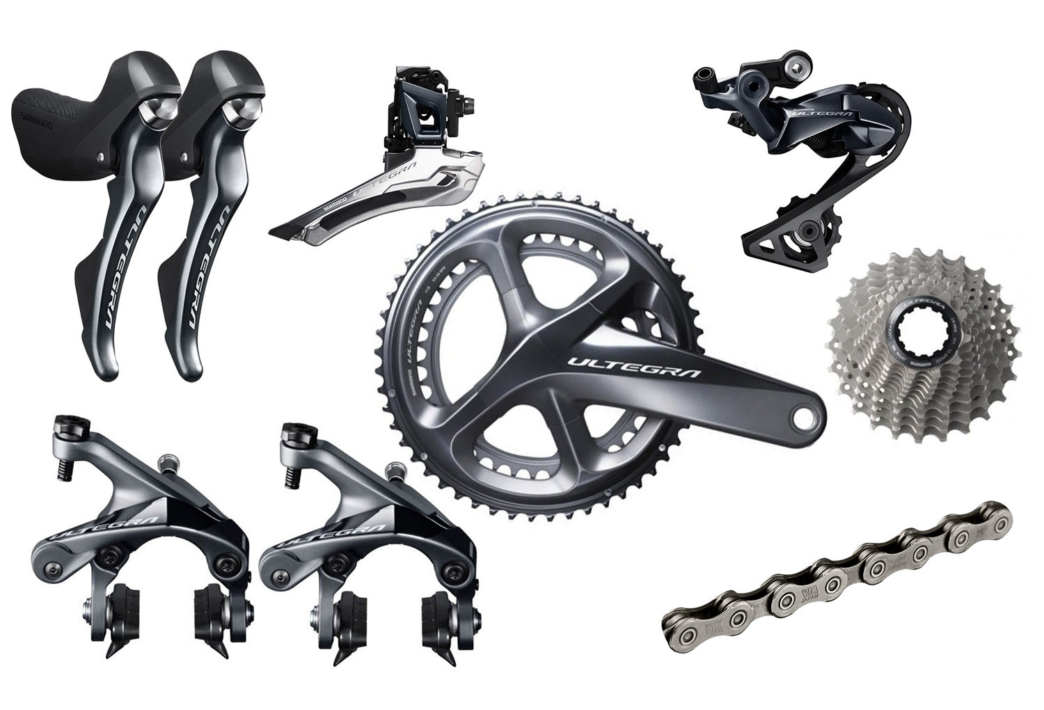 Shimano Groupset Ultegra R8000 11s 172 5mm 50-34t (with BB)