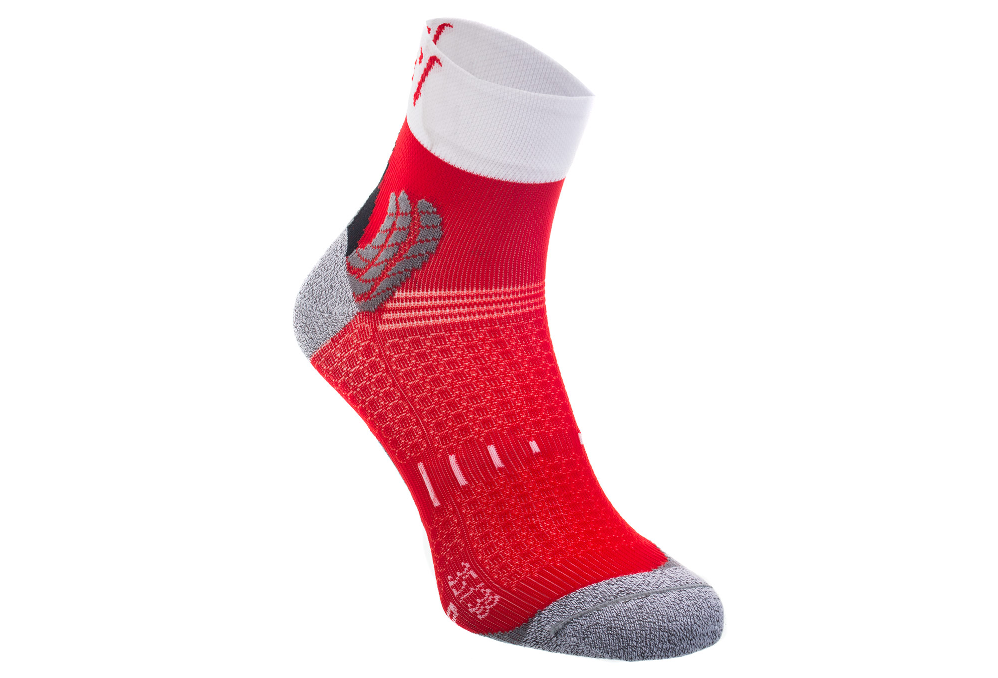paire de chaussettes running rafa l nairobie blanc rouge. Black Bedroom Furniture Sets. Home Design Ideas