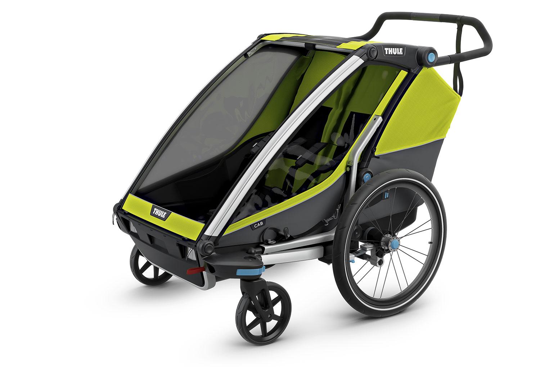 Remorque 224 Enfant Thule Chariot Cab 2 Vert Gris Alltricks Fr