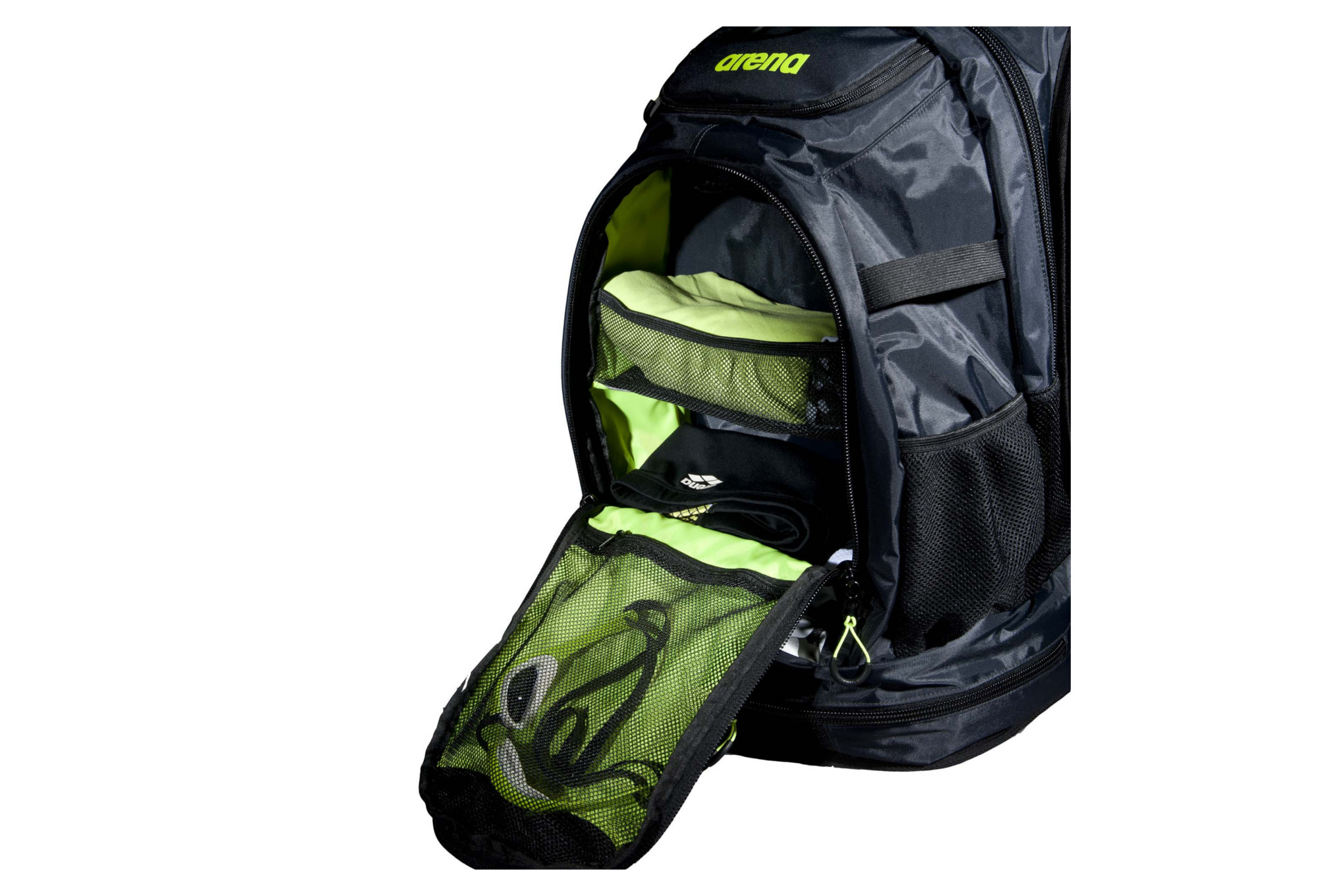 Sac de piscine arena fastpack 2 1 noir vert for Serviette piscine arena