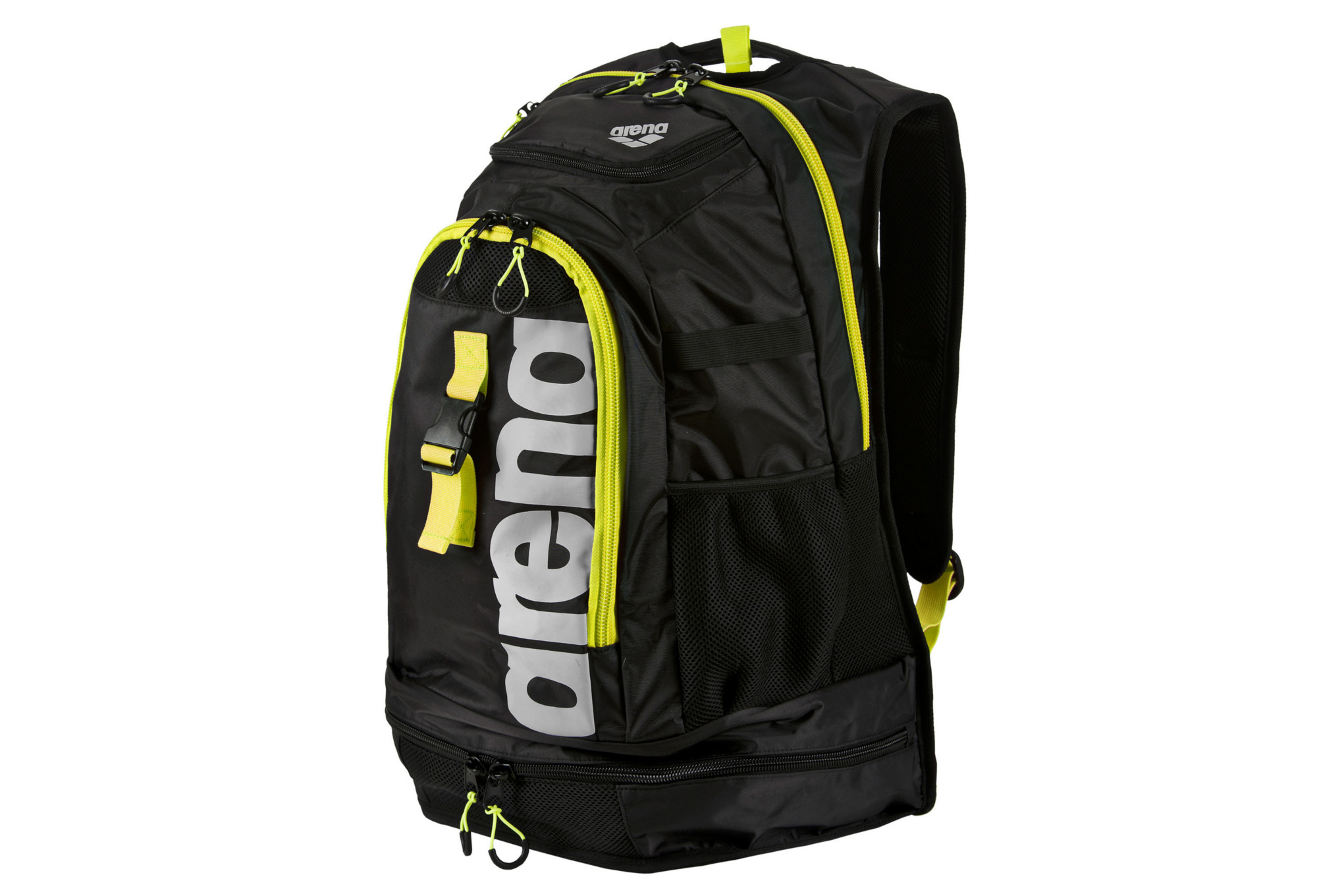 sac de piscine arena fastpack 2 1 noir jaune