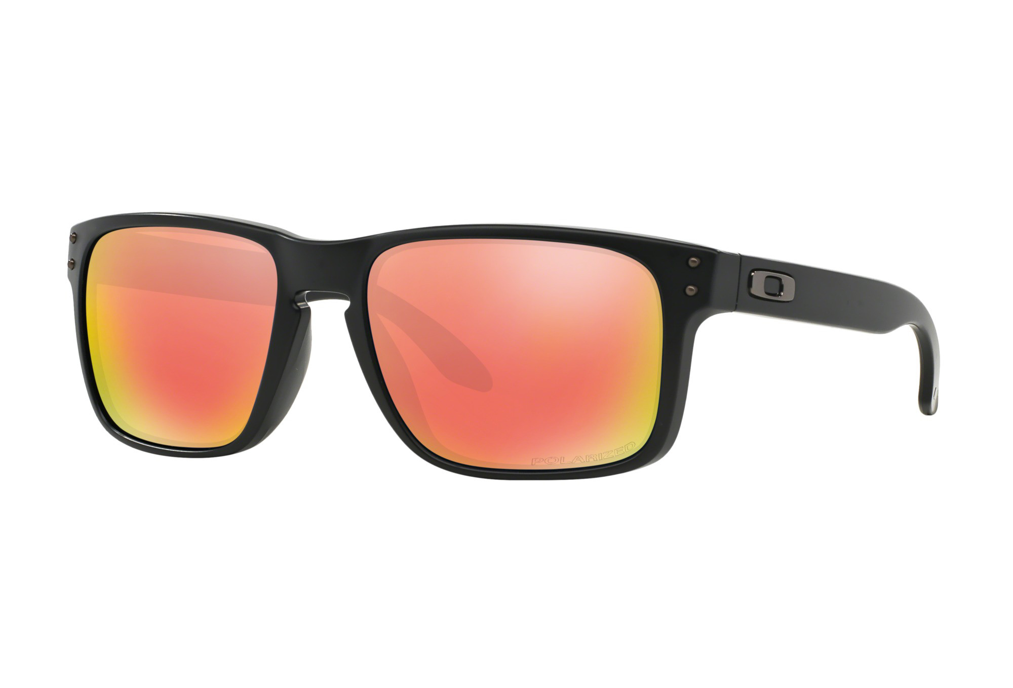 4c3fe5472abaa OAKLEY Sunglasses HOLBROOK Matte Black   Ruby Iridium Polarized Ref OO9102- 51