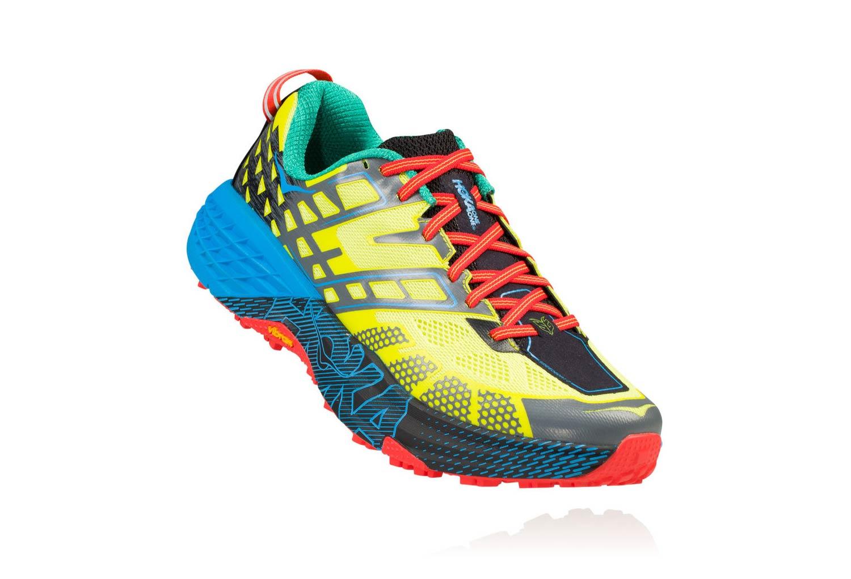 size 40 22377 350c8 Chaussures de Trail Hoka One One Speedgoat 2 Jaune   Bleu