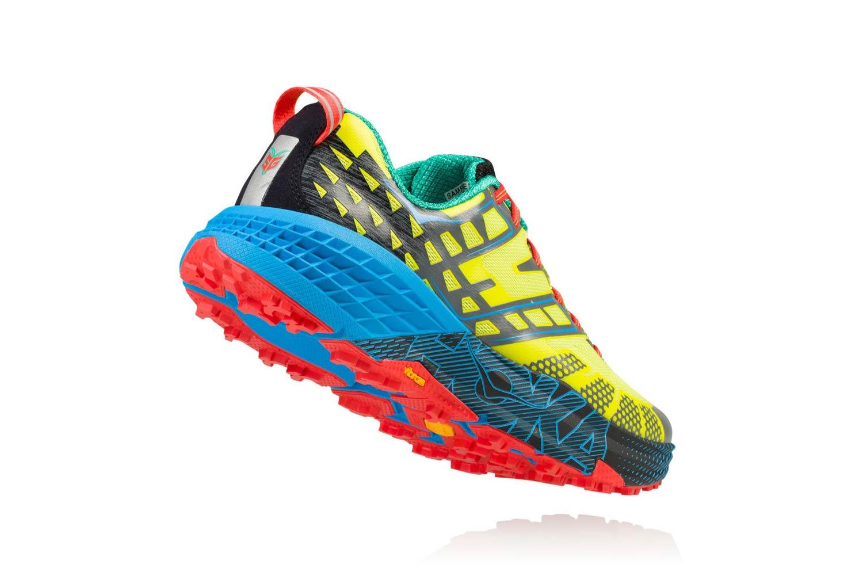 size 40 6df98 3c6c1 Chaussures de Trail Hoka One One Speedgoat 2 Jaune   Bleu