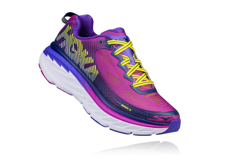 watch 1a347 3f78a Chaussures de Running Femme Hoka One One Bondi 5 Violet