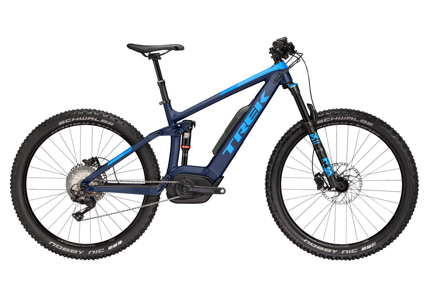 vtt electrique trek powerfly fs 8 lt plus 27 5 shimano xt 11v bleu 2018. Black Bedroom Furniture Sets. Home Design Ideas
