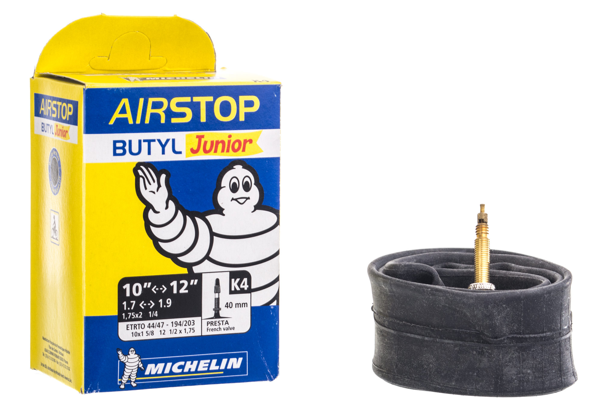 Michelin chambre air vtt k4 airstop 10 12 valve presta 40 mm - Chambre a air vtt increvable ...