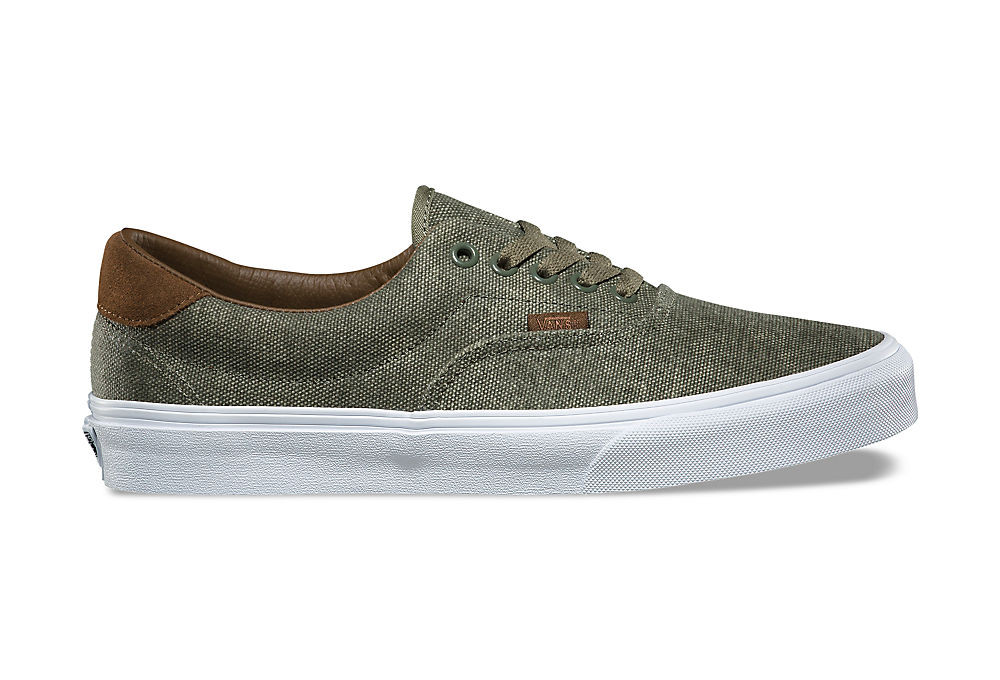 Vans Era 59 CL Shoes Khaki White  53e7246bf