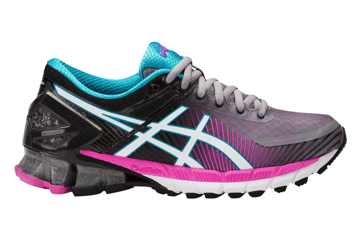 chaussures de running femme asics gel kinsei 6 gris rose. Black Bedroom Furniture Sets. Home Design Ideas