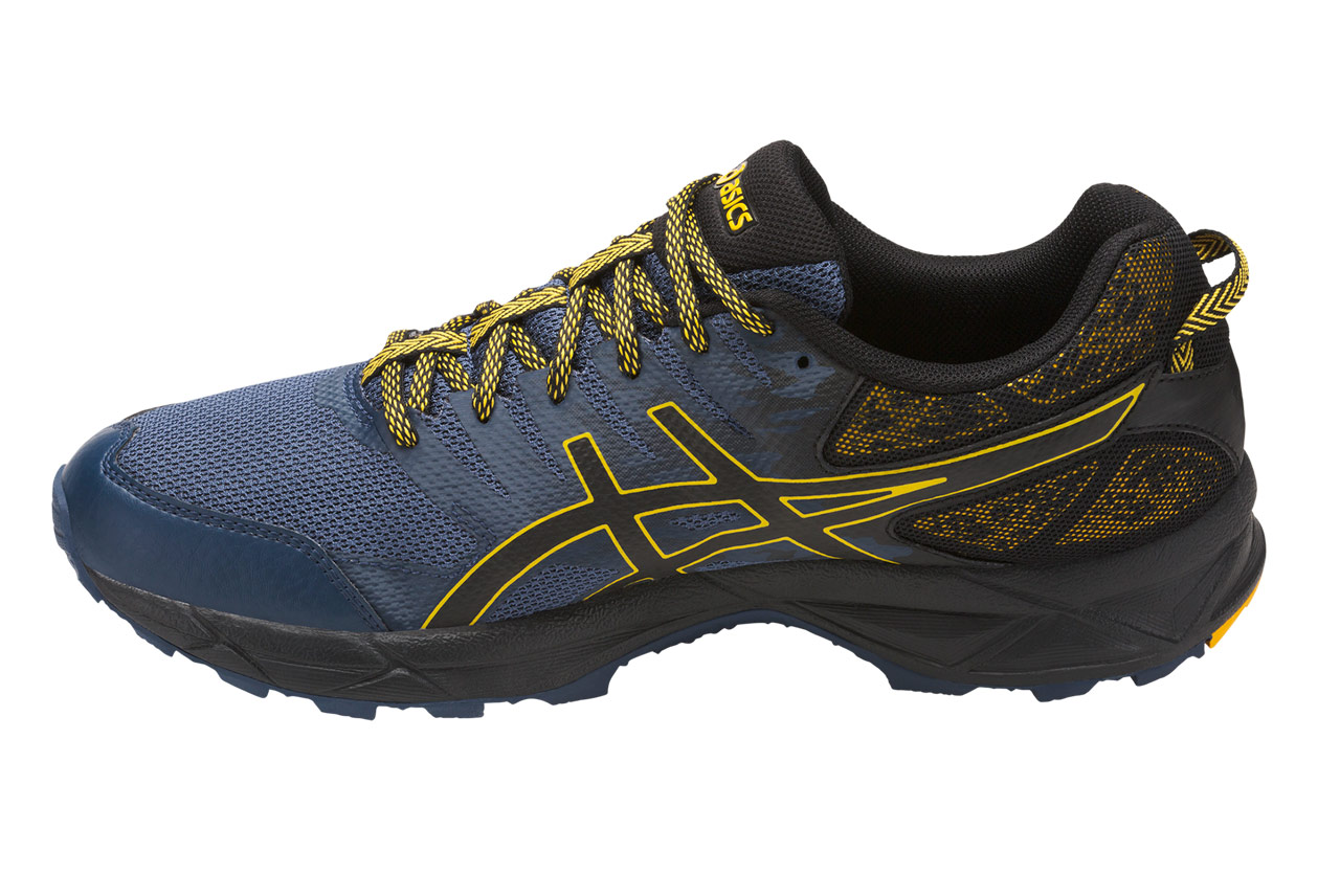 chaussures de trail asics gel sonoma 3 bleu jaune. Black Bedroom Furniture Sets. Home Design Ideas