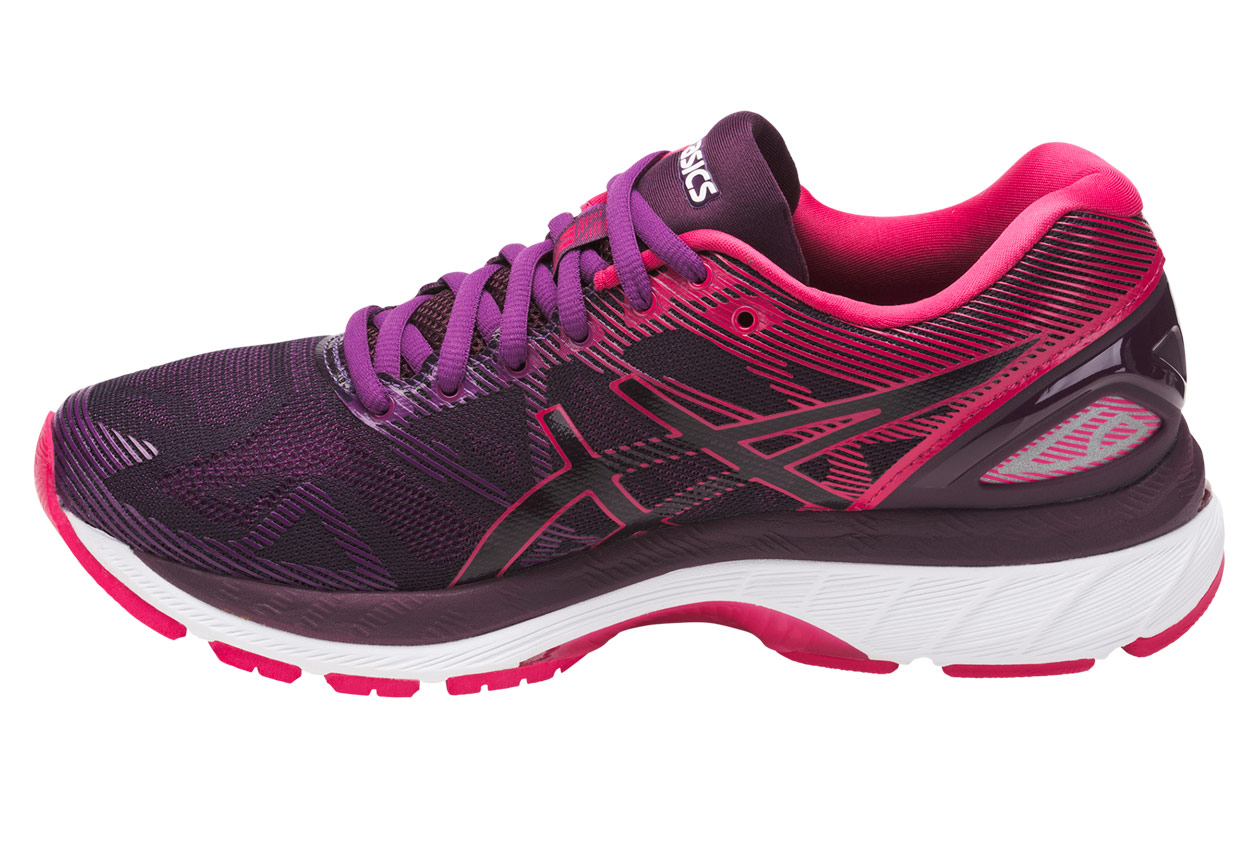 chaussures de running femme asics gel nimbus 19 violet rose. Black Bedroom Furniture Sets. Home Design Ideas
