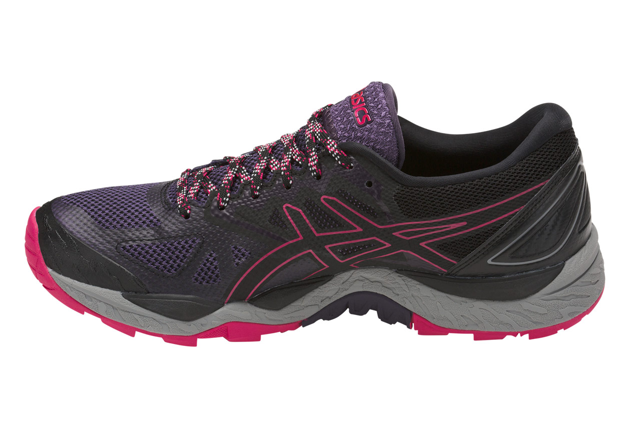 chaussures de trail femme asics gel fujitrabuco 6 gtx noir violet. Black Bedroom Furniture Sets. Home Design Ideas