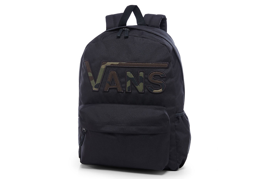 b1b1320e30113 Vans Realm Flying V Backpack Black Camo