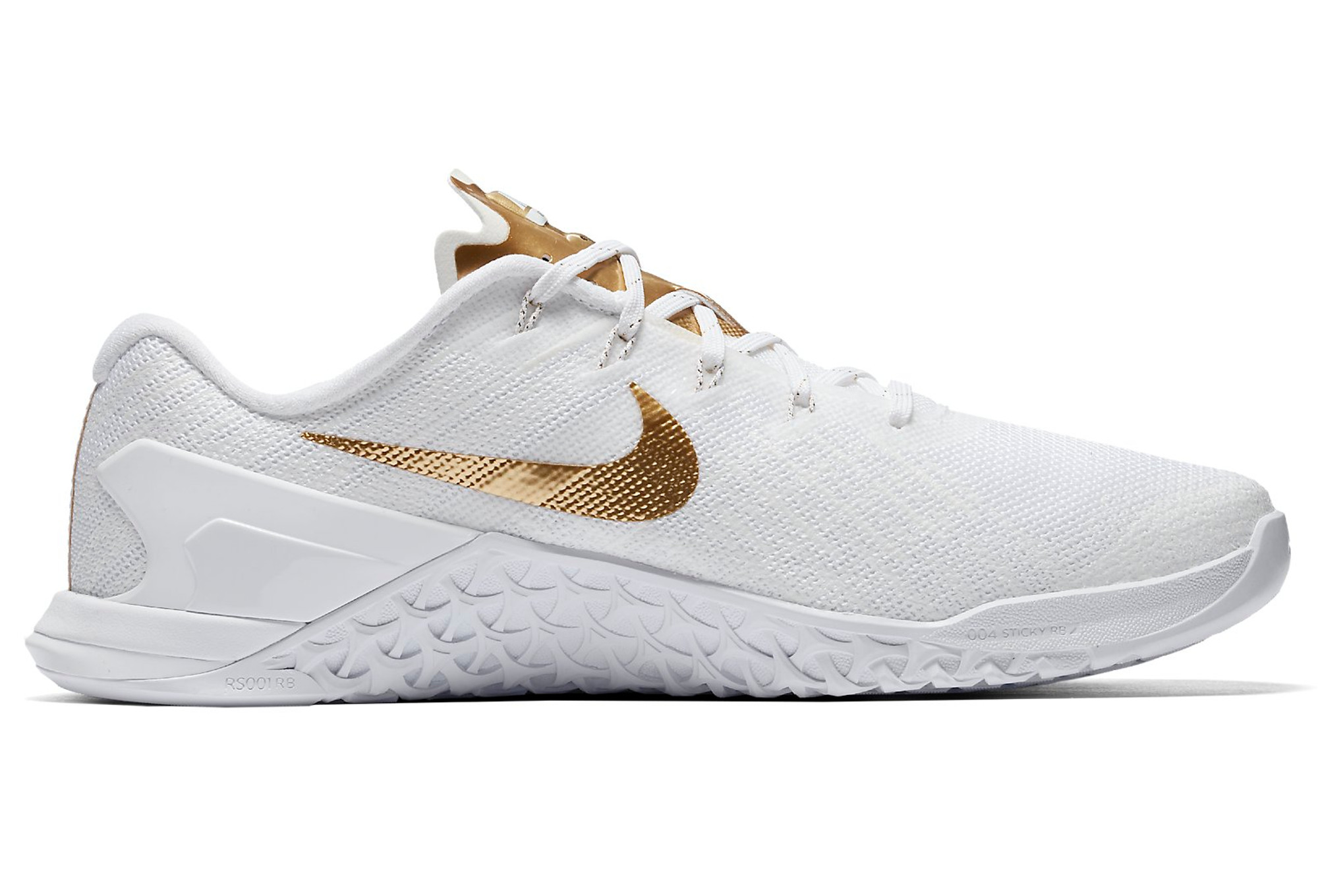 chaussures de cross training femme nike metcon 3 amp blanc or. Black Bedroom Furniture Sets. Home Design Ideas