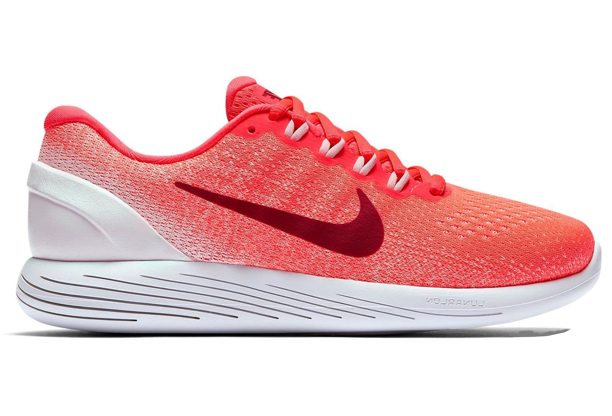 sports shoes 3f236 698cc Chaussures de Running Femme Nike LunarGlide 9 Orange  Rose