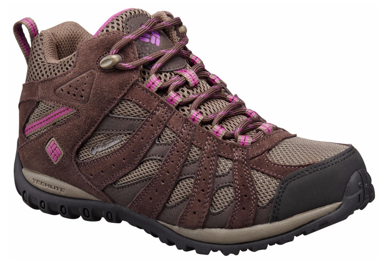 chaussures imperm able columbia redmond mid marron violet femme. Black Bedroom Furniture Sets. Home Design Ideas