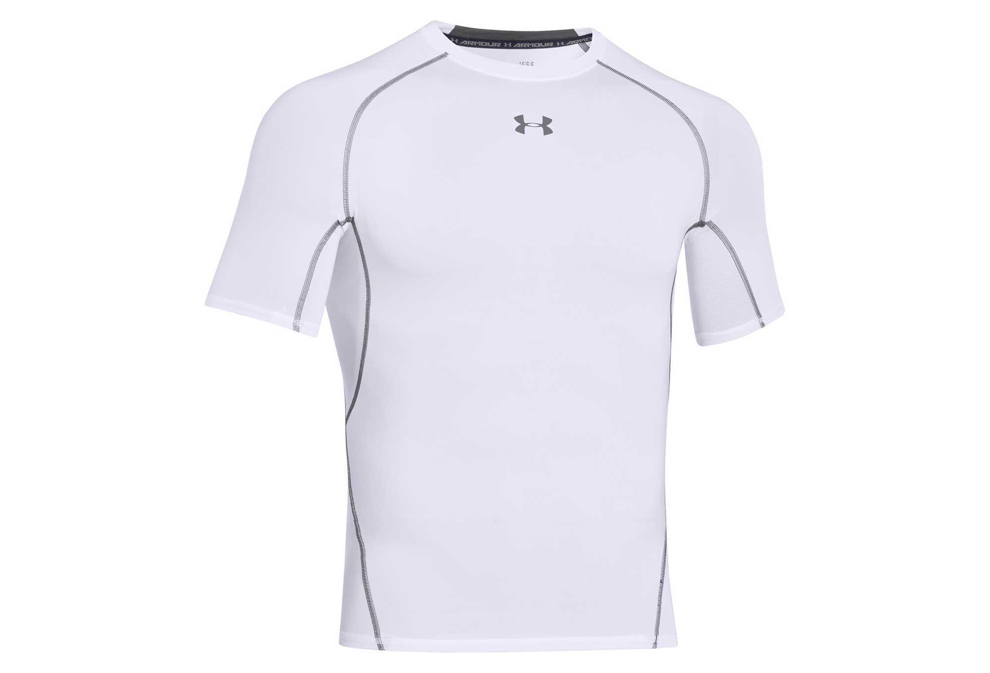 t shirt under armour bianca