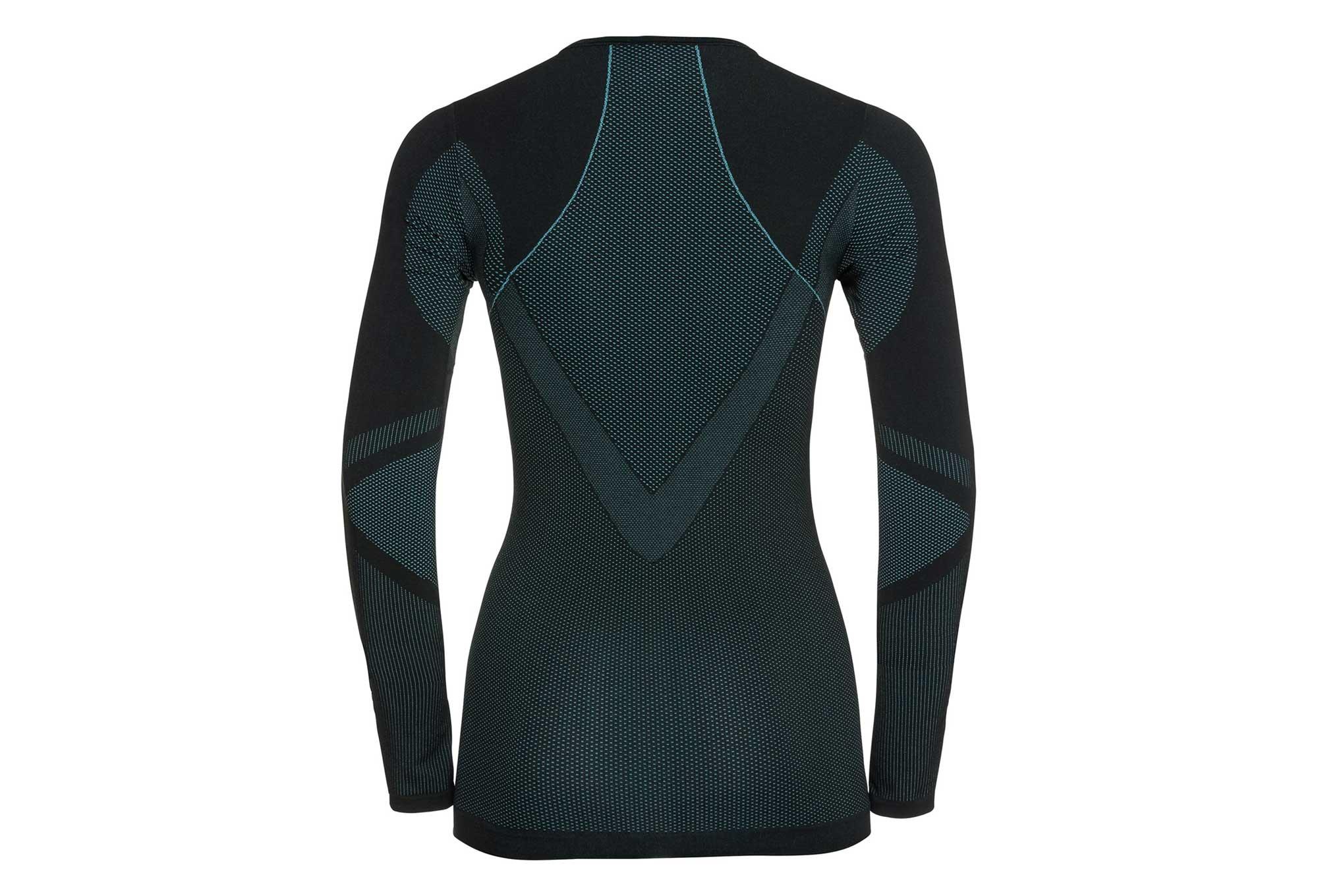 Odlo Long Black Shirt T Woman Blue Performan Sleeve RjL54A