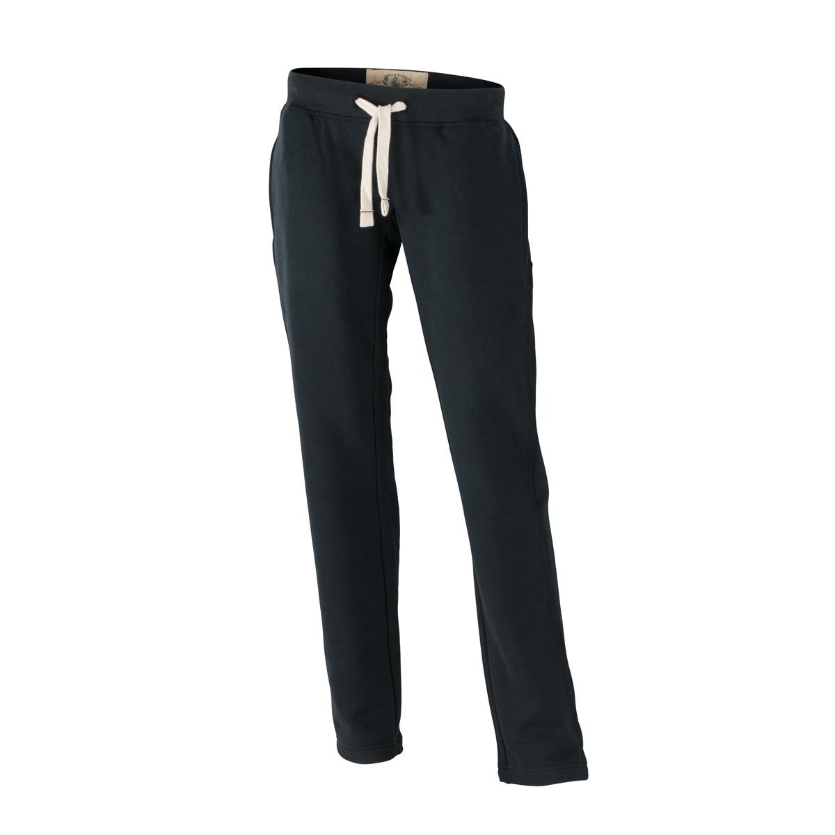 bd0ee74dad0 James et Nicholson Pantalon jogging - femme - JN944 - noir - molletonné  vintage coupe droite