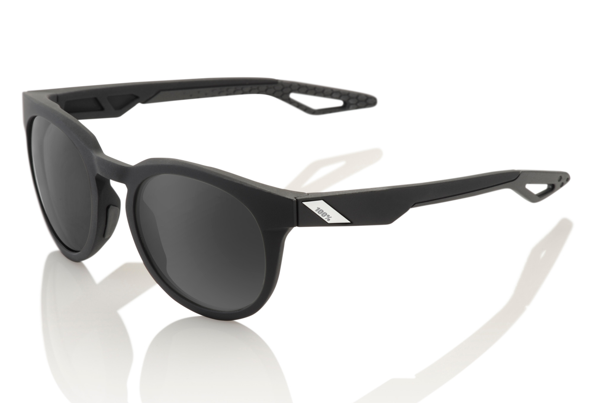 100% Campo Sunglasses Black Frame Polarized Black Lens