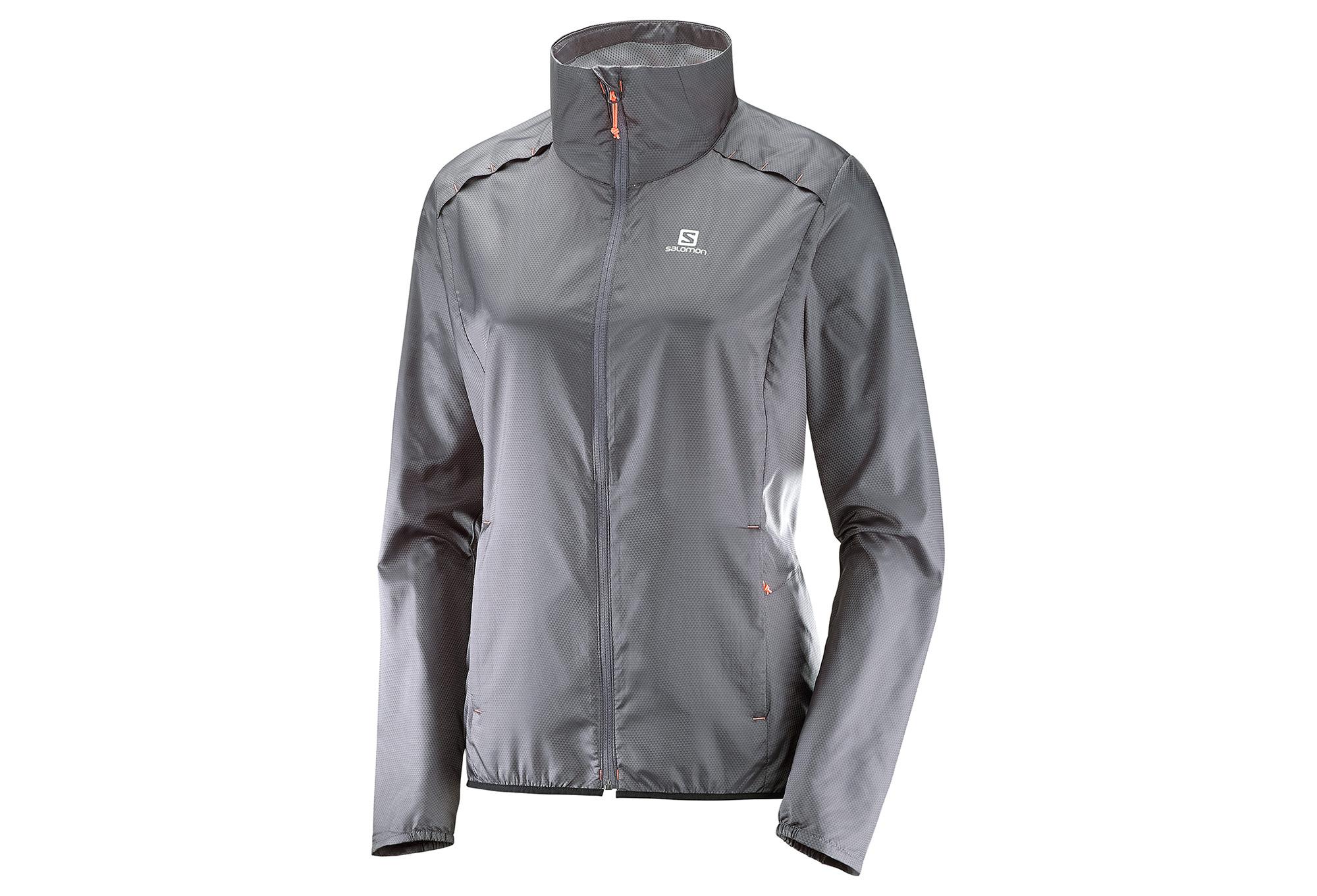 ostaa hyvää Viimeisin klassiset kengät Salomon Agile Wind Women Jacket Grey