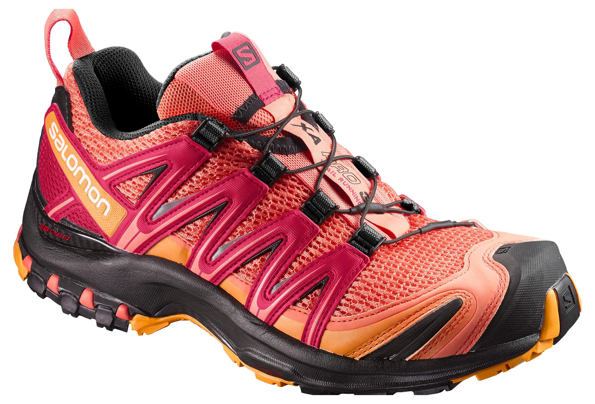 chaussures de trail femme salomon xa pro 3d orange violet. Black Bedroom Furniture Sets. Home Design Ideas