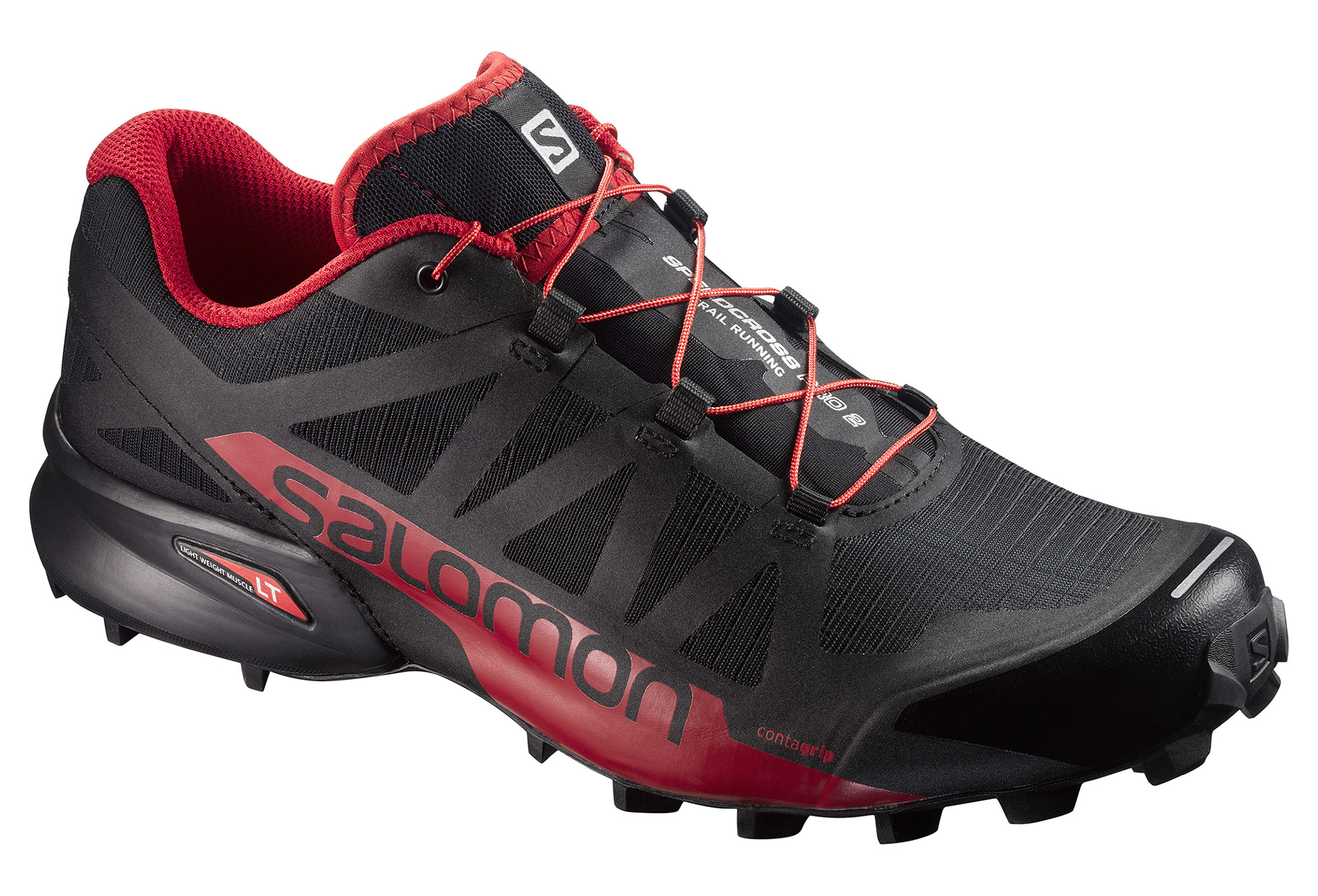 chaussures de trail salomon speedcross pro 2 noir rouge. Black Bedroom Furniture Sets. Home Design Ideas