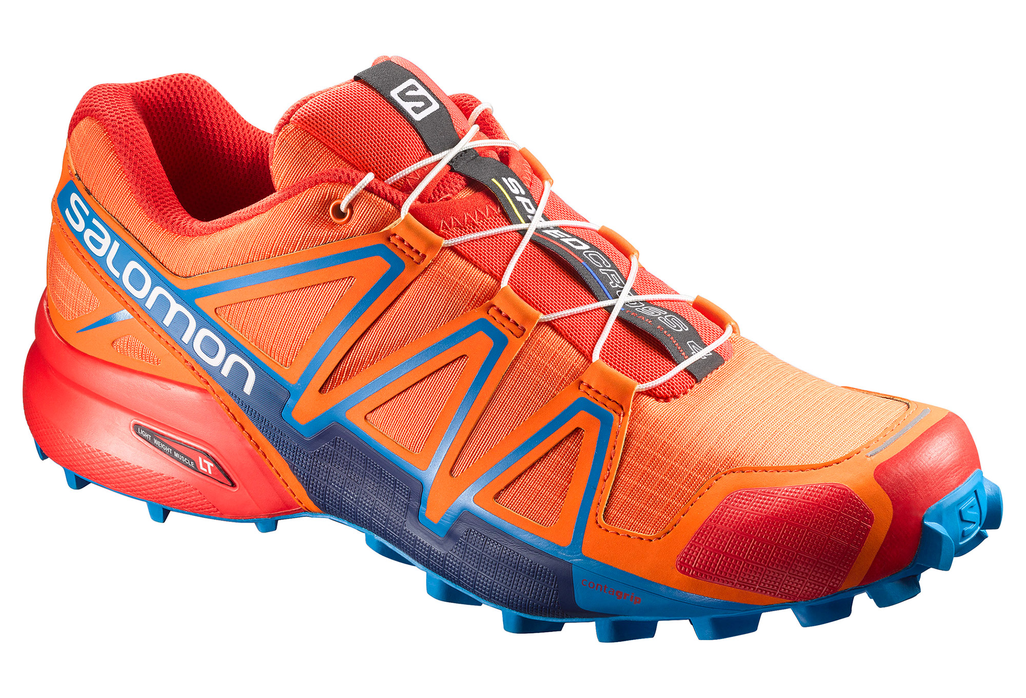chaussures de trail salomon speedcross 4 bleu orange. Black Bedroom Furniture Sets. Home Design Ideas
