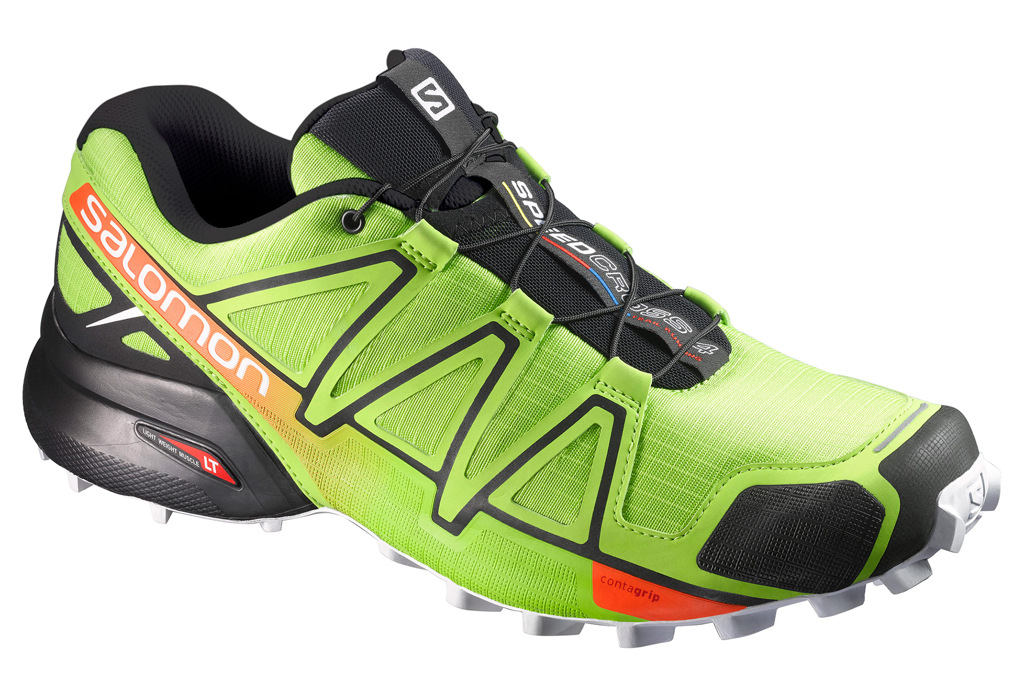 chaussures de trail salomon speedcross 4 noir vert. Black Bedroom Furniture Sets. Home Design Ideas