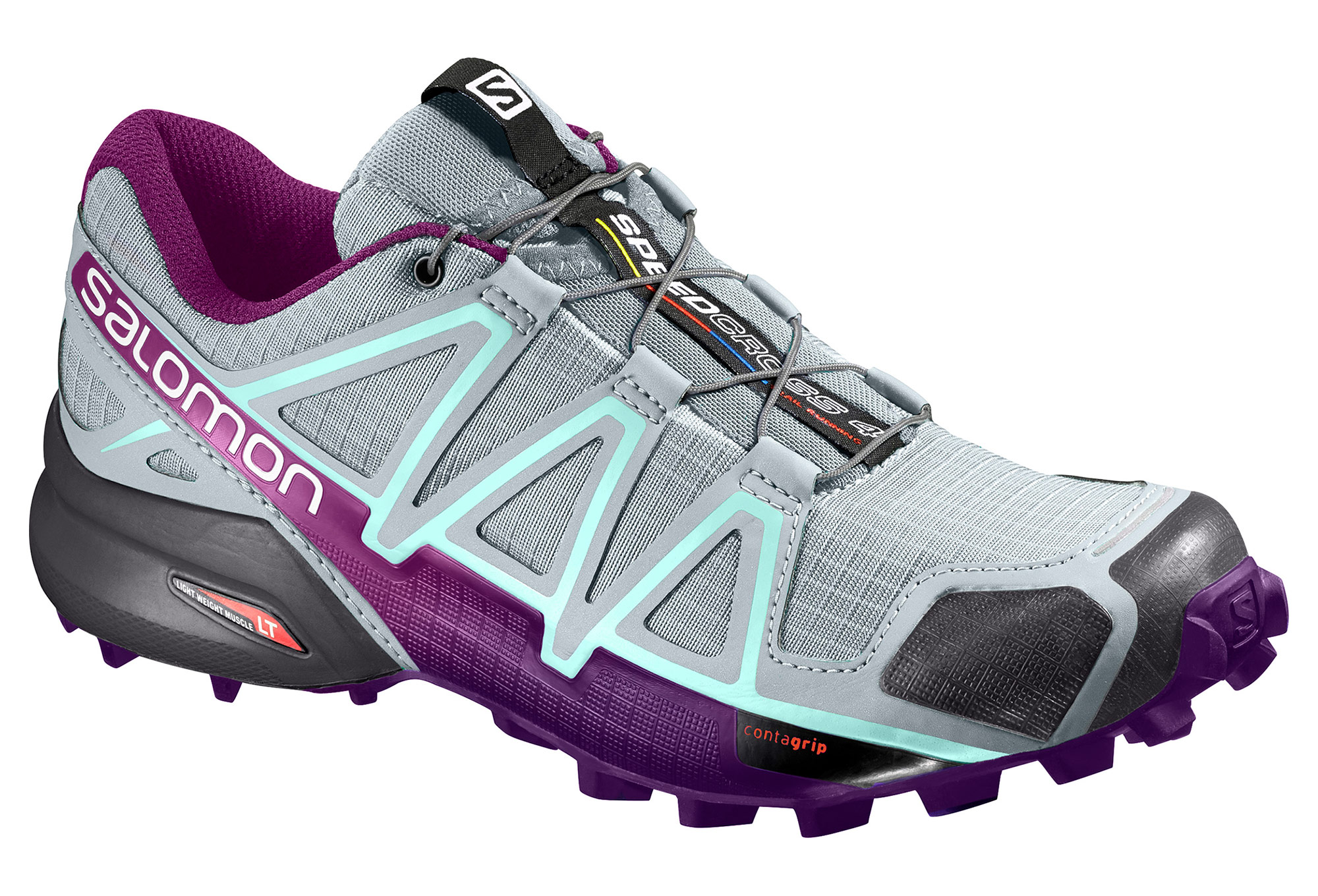 Salomon Speedcross 4 Damen Grau Lila