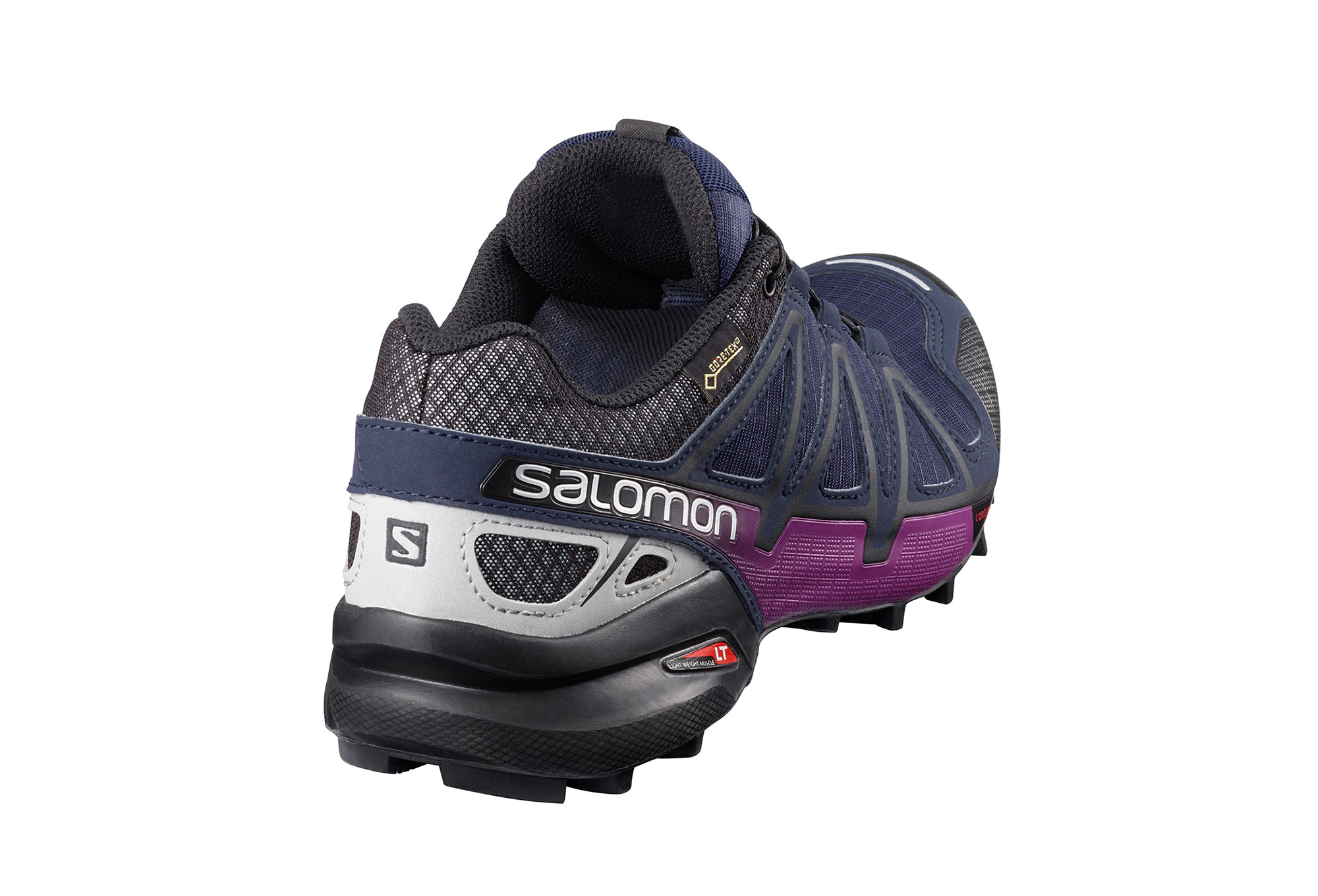 chaussures de trail femme salomon speedcross 4 nocturne gtx noir bleu. Black Bedroom Furniture Sets. Home Design Ideas