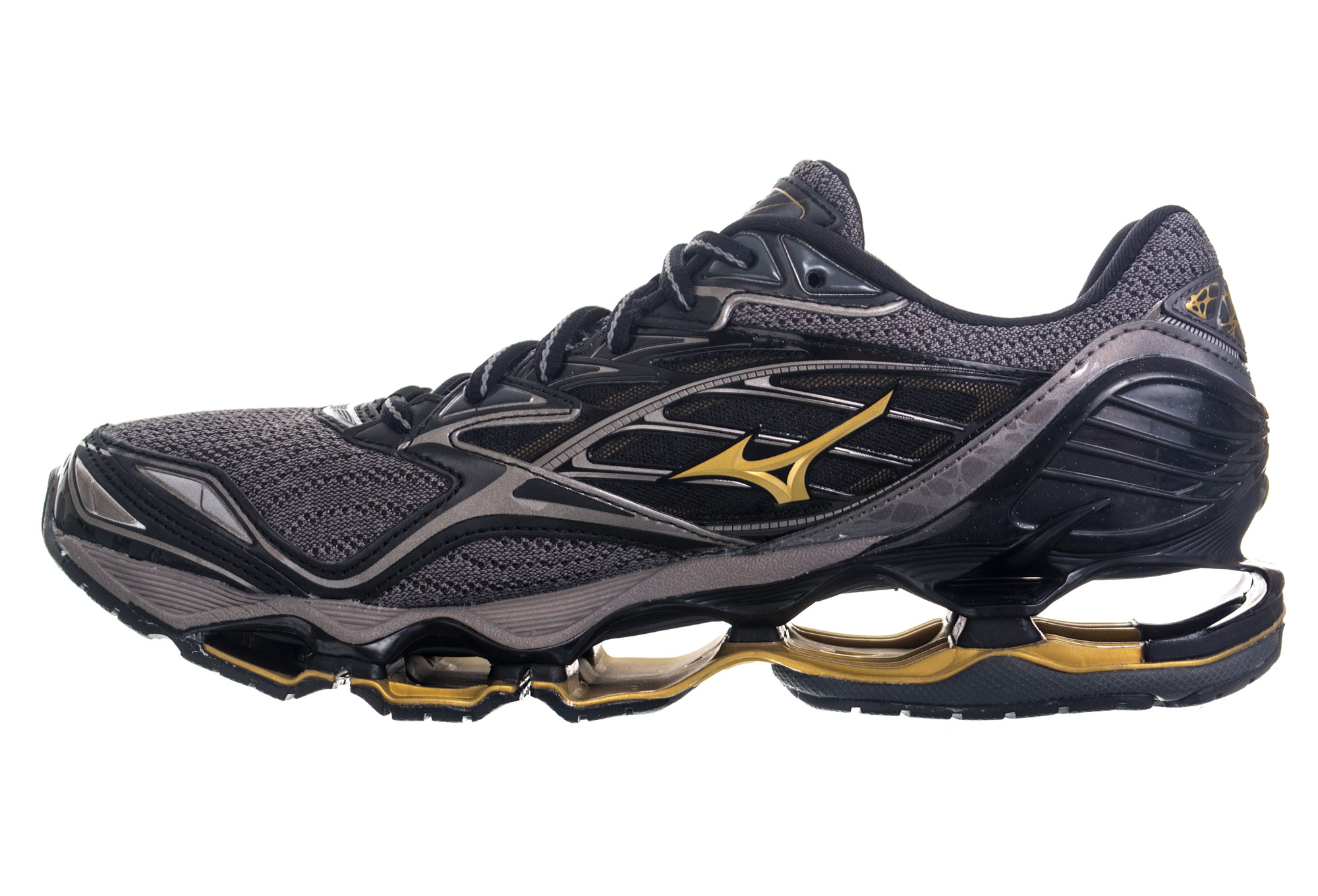 sports shoes 068ca 7c958 ... Mizuno Wave Prophecy 6 Black Gold ...