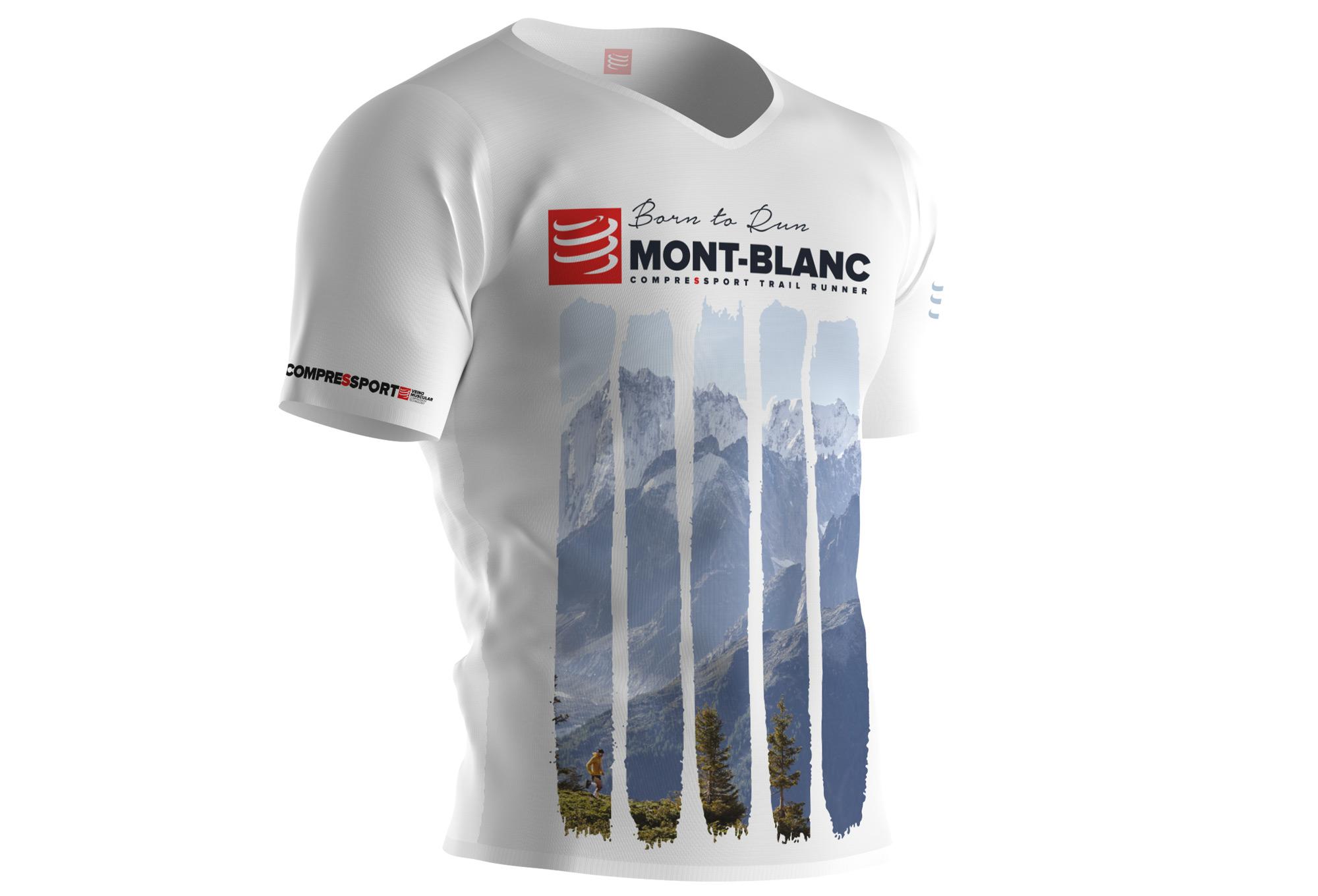 T Shirt Technique Compressport Mont Blanc 2017 Blanc