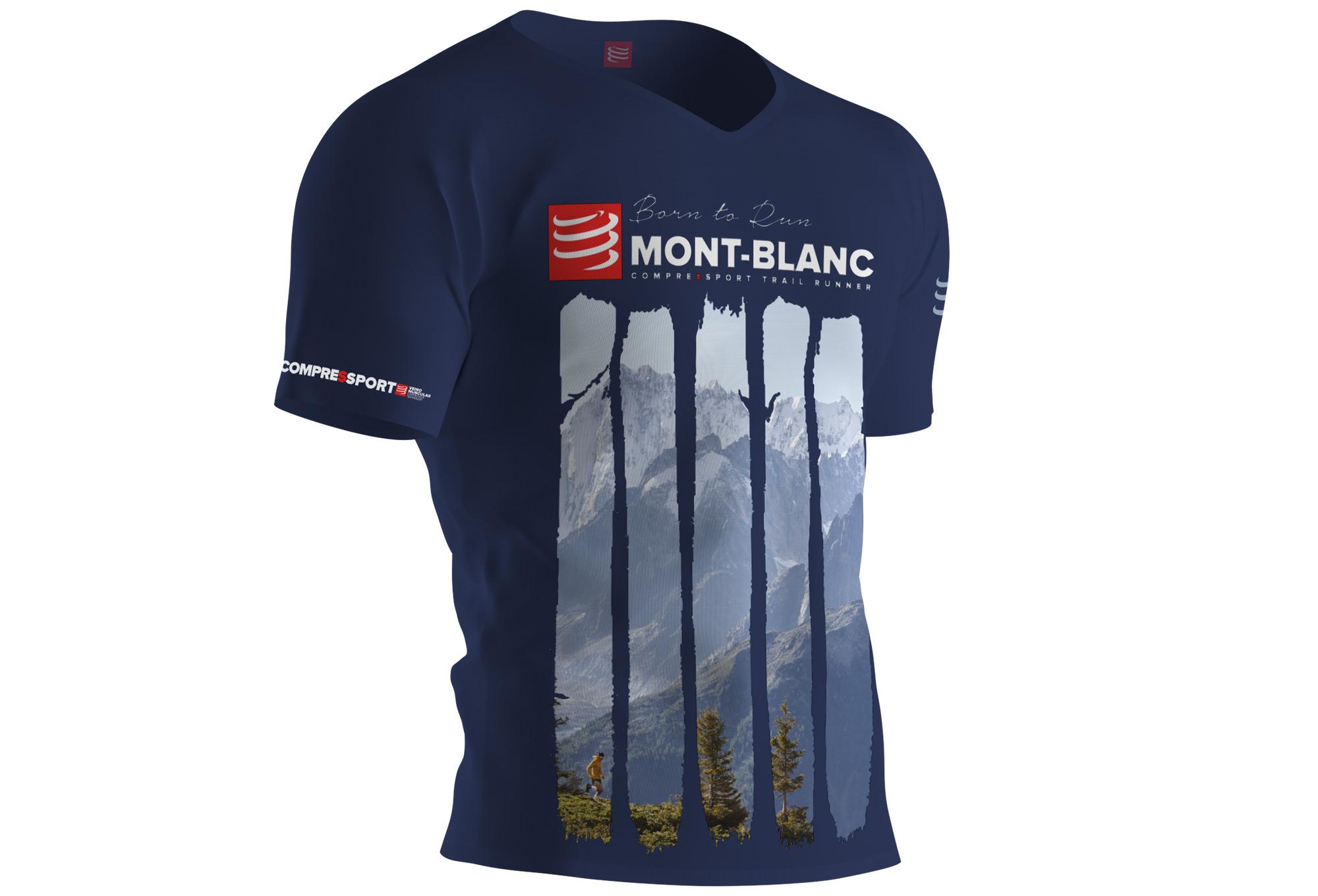 Compressport Training T Shirt Mont Blanc 2017 Blue