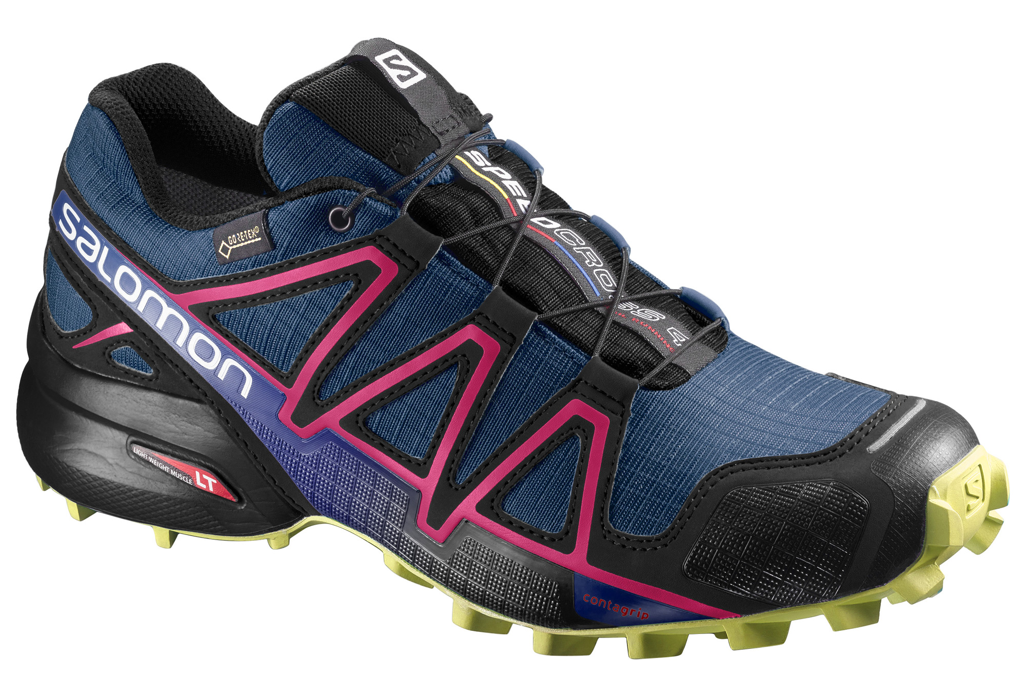 chaussures de trail femme salomon speedcross 4 gtx bleu. Black Bedroom Furniture Sets. Home Design Ideas