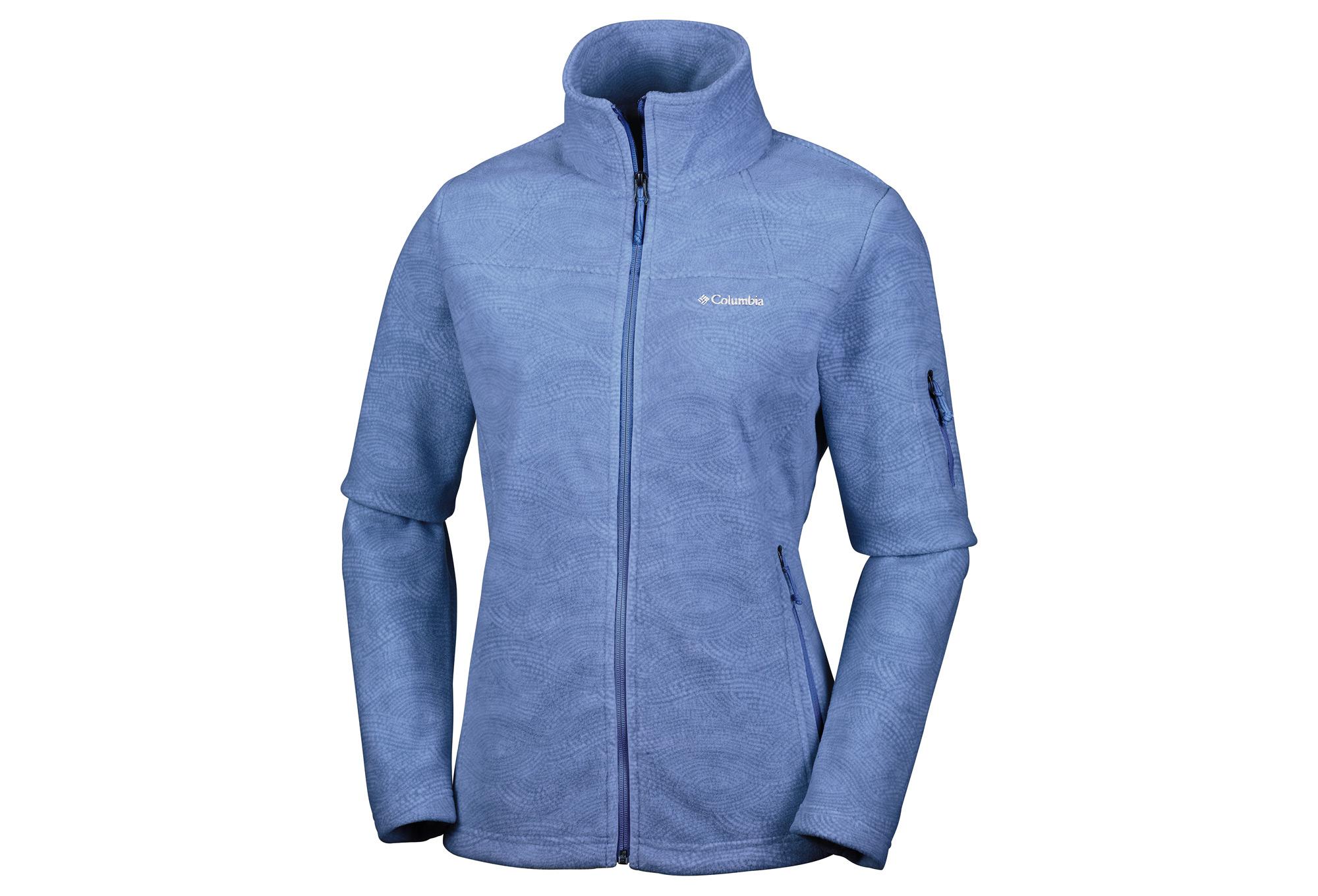 Columbia Fast Trek Printed Womens Zip-Up Fleece Jacket