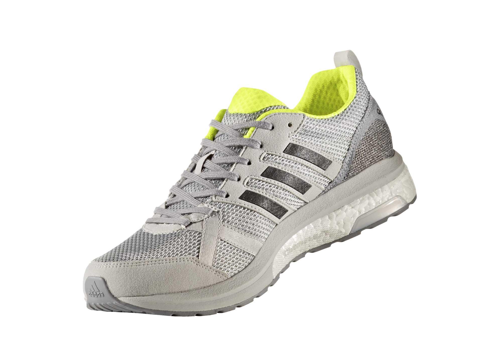 finest selection e8fc4 f1e85 Chaussures de Running adidas running Adizero Tempo 9 Gris  Jaune  Fluo