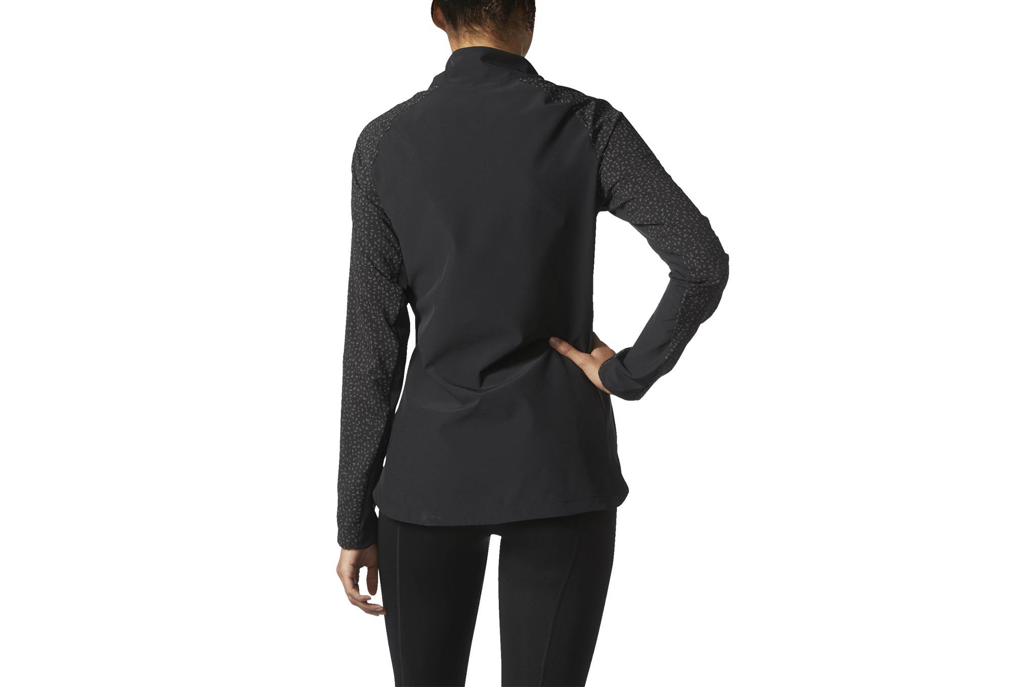 Veste coupe vent d perlant femme adidas running supernova storm noir - Veste coupe vent adidas femme ...