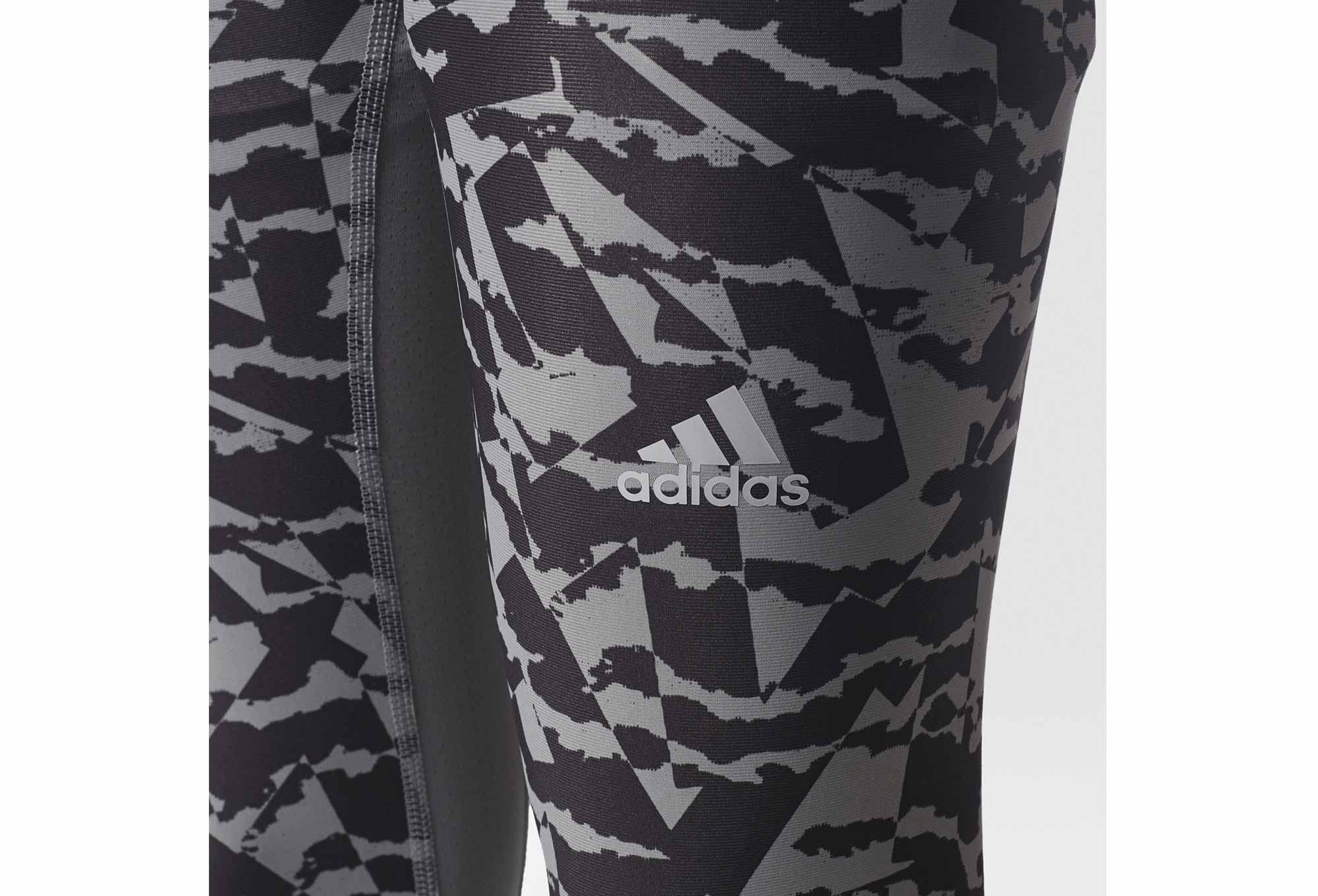 8e73170efeee adidas running Techfit Chill Print 3 4 Tights Grey