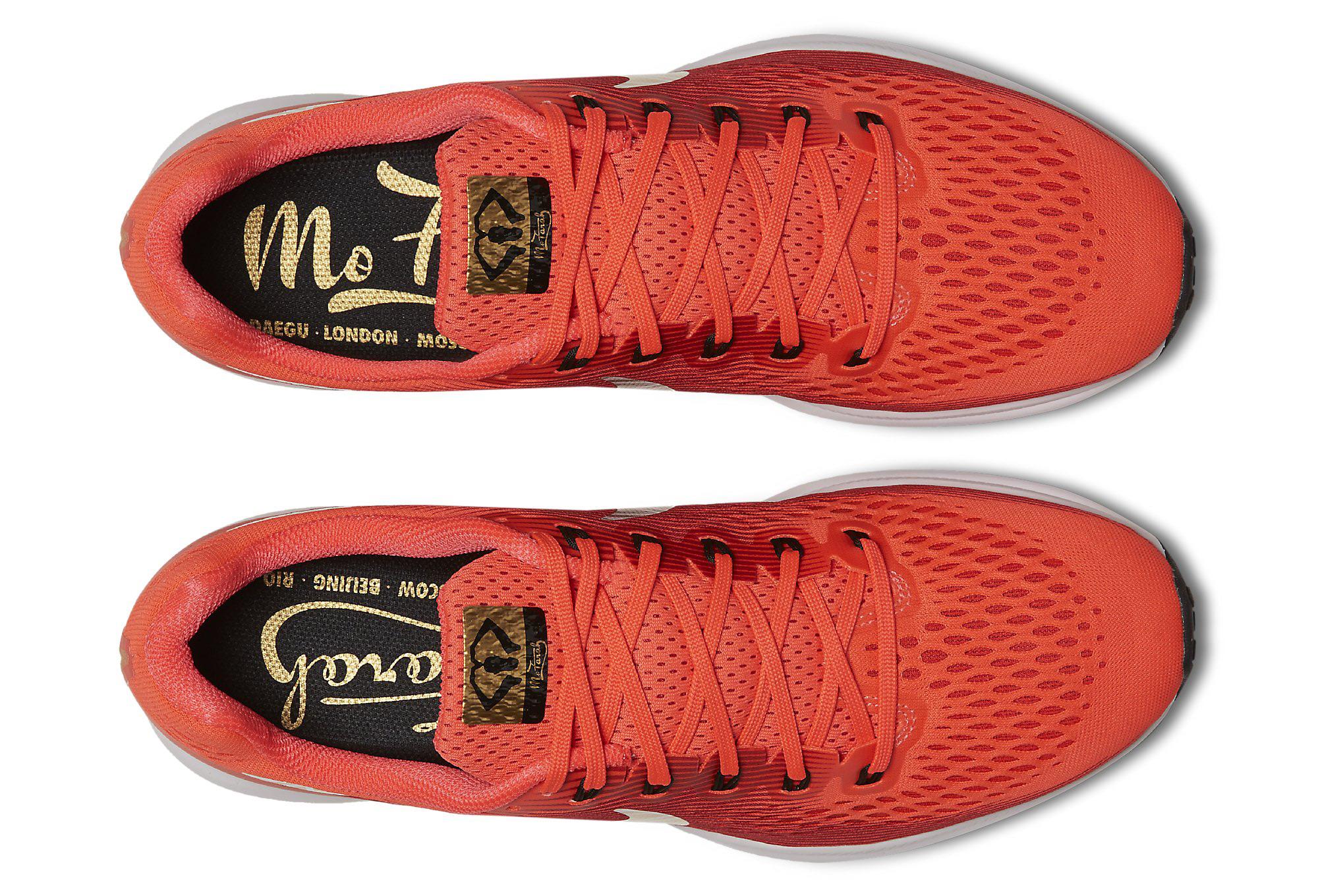 half off c54d7 5b5ea Nike Air Zoom Pegasus 34 Mo Farah Homme Rouge 42.5