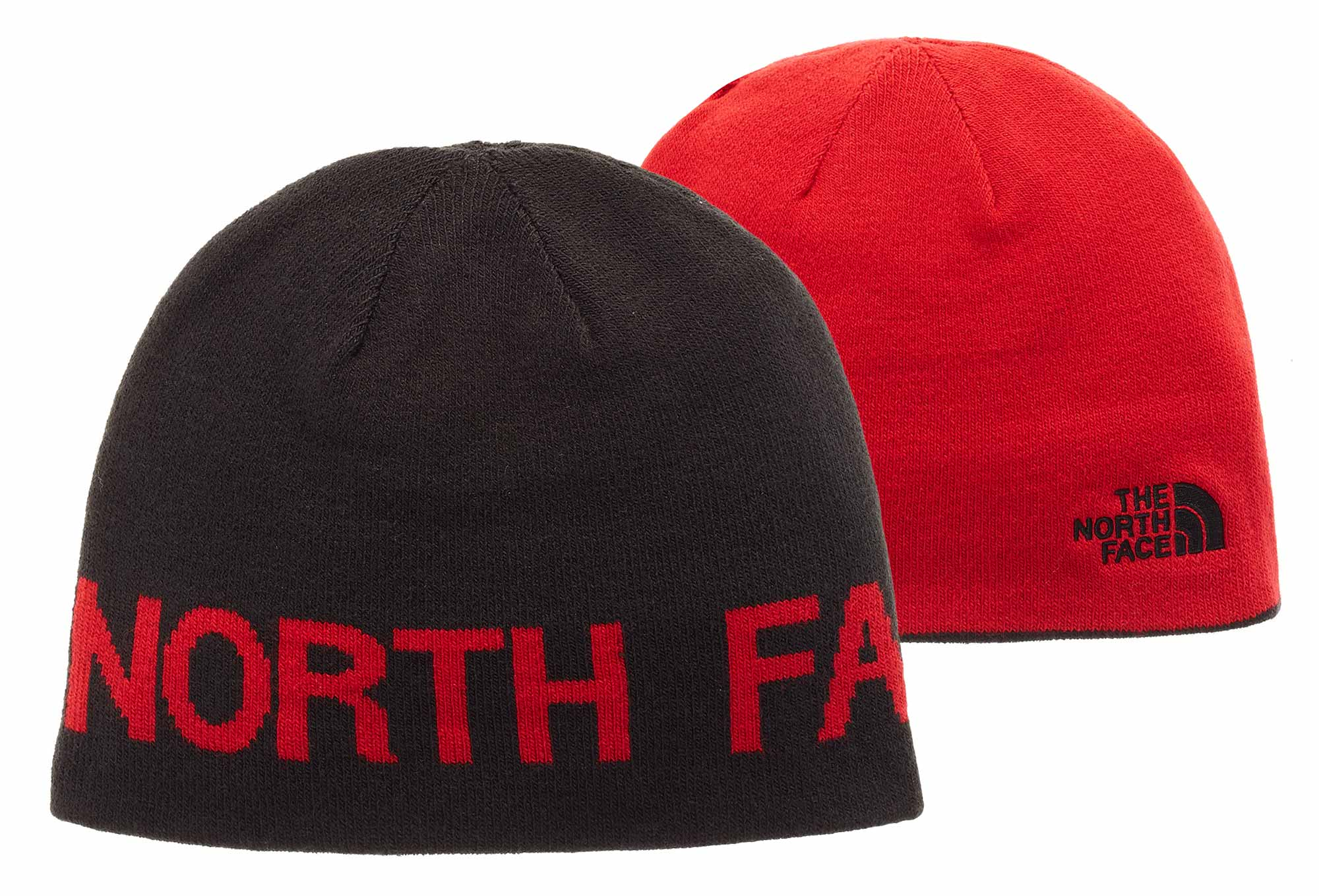 1023ee3a74647 The North Face TNF Banner Reversible Beanie Black Red