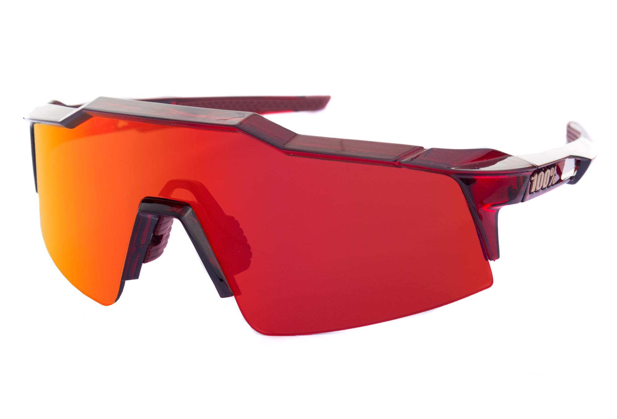 90e4a4c4d7 100% Speedcraft SL Sunglasses Cherry Palace Red - Red Mirror Lens ...