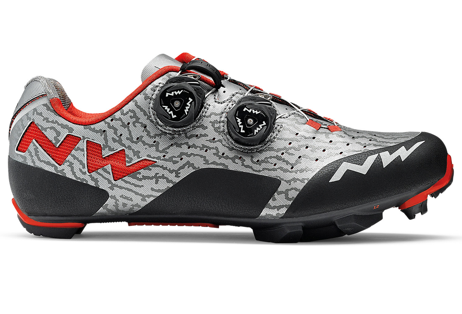 Northwave Rebel MTB Shoes Grey Red 2018  96279f2c2