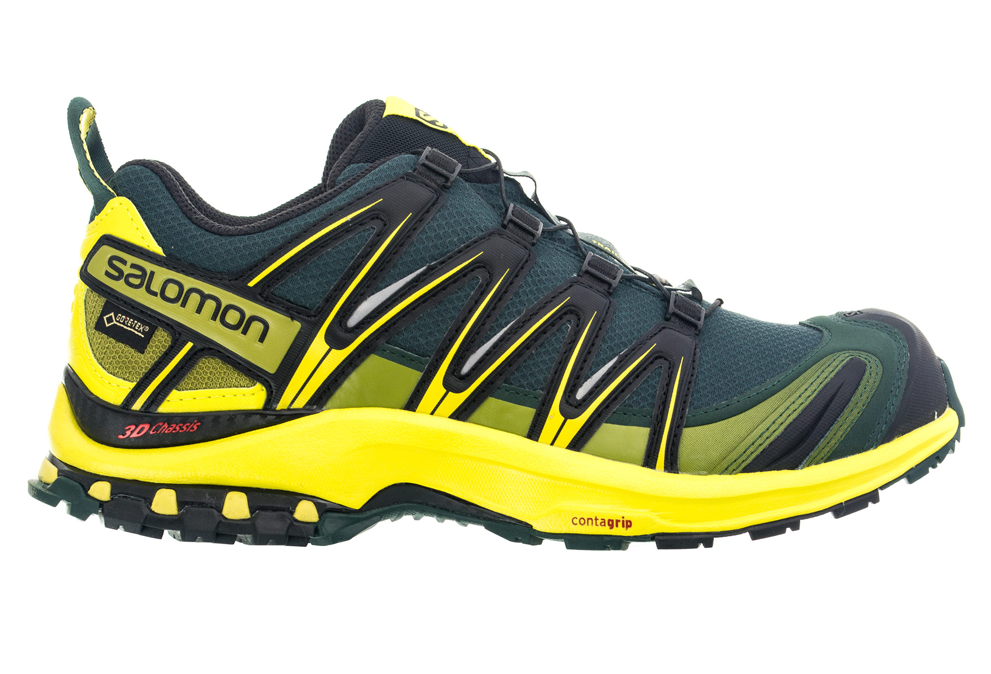chaussures de trail salomon xa pro 3d gtx noir jaune. Black Bedroom Furniture Sets. Home Design Ideas