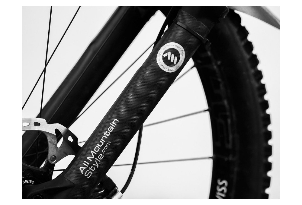 All Mountain Style Protector de Horquilla Protege la horquilla de tu bicicleta Negro//Plata
